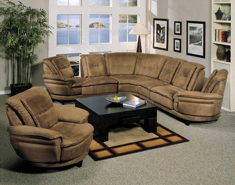 Brown Sectional Sofa Microfiber (View 11 of 20)
