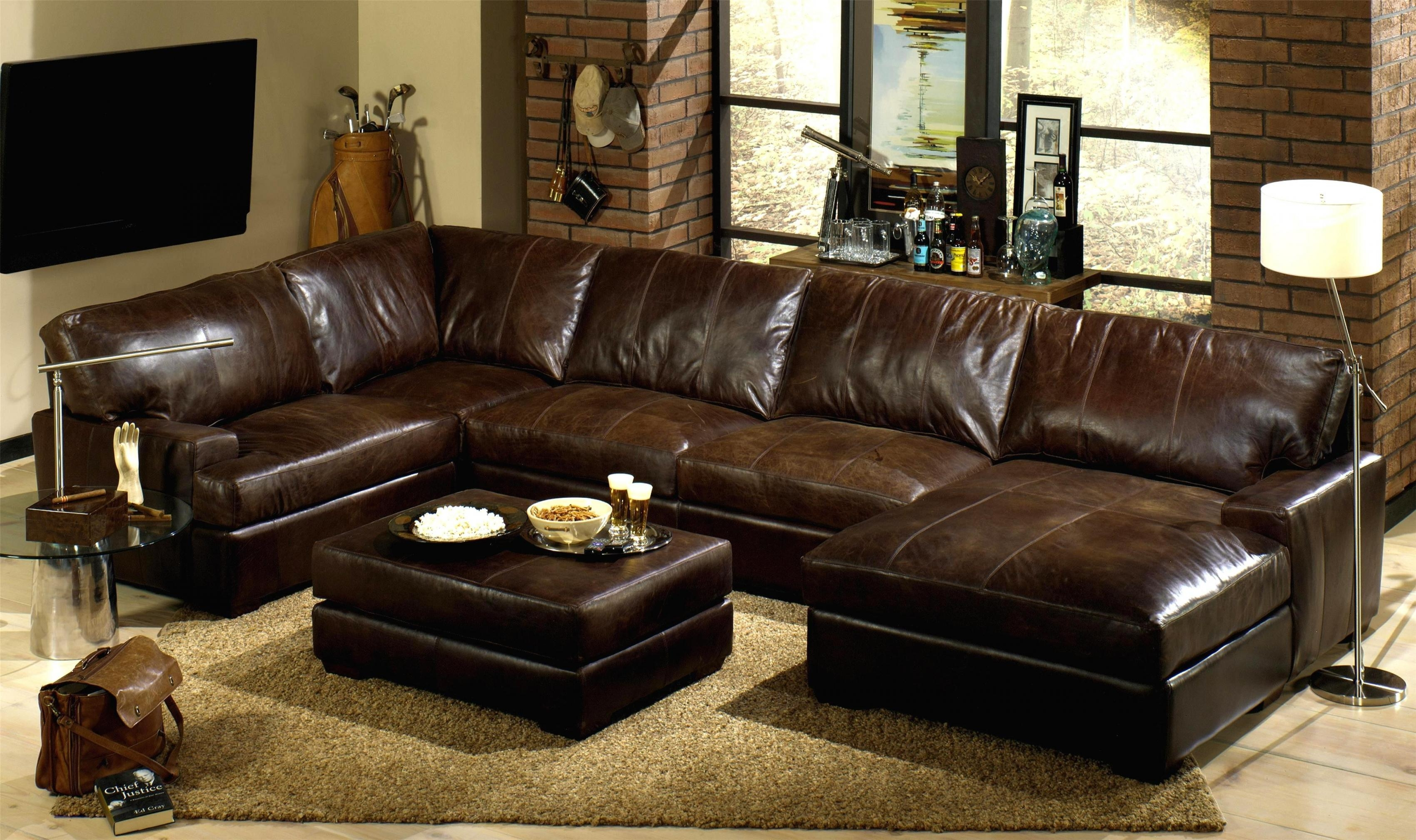 Brown Sectional Sofa With Chaise For Chocolate Brown Sectional With Chaise (Image 3 of 15)