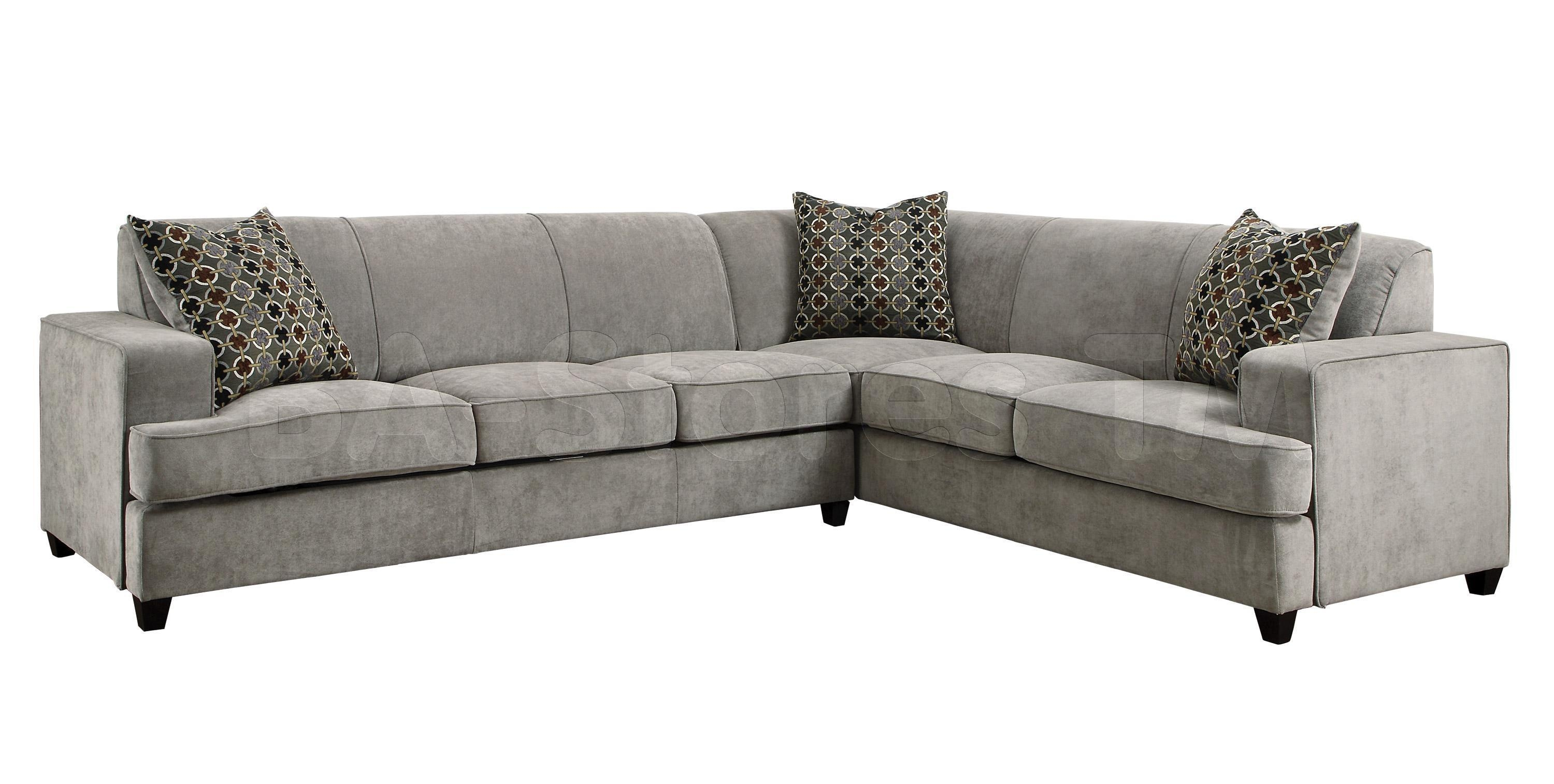 Brown Sectional Sofa With Sleeper Storage (Image 8 of 15)