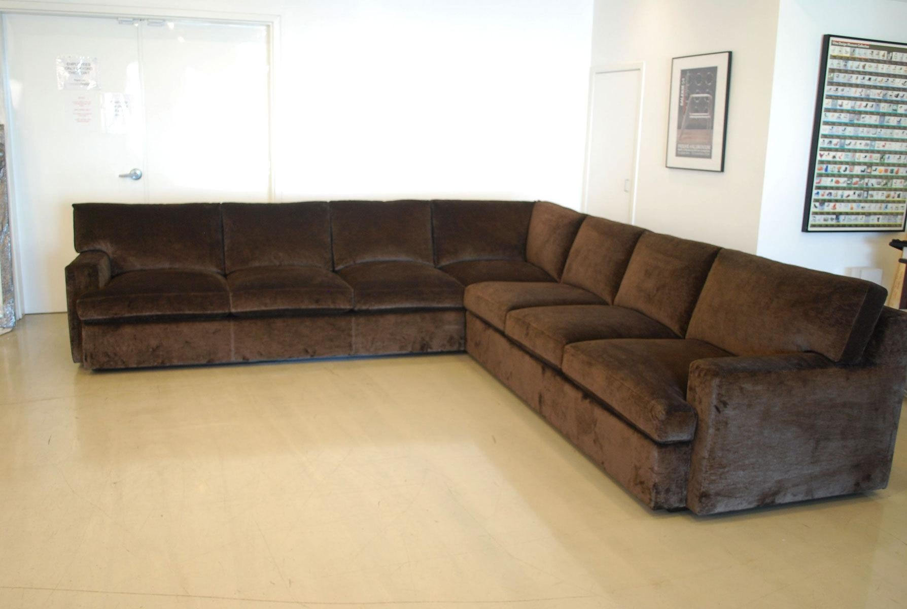 Brown Velvet Sectional Sofa | Tehranmix Decoration In Brown Velvet Sofas (Image 2 of 20)