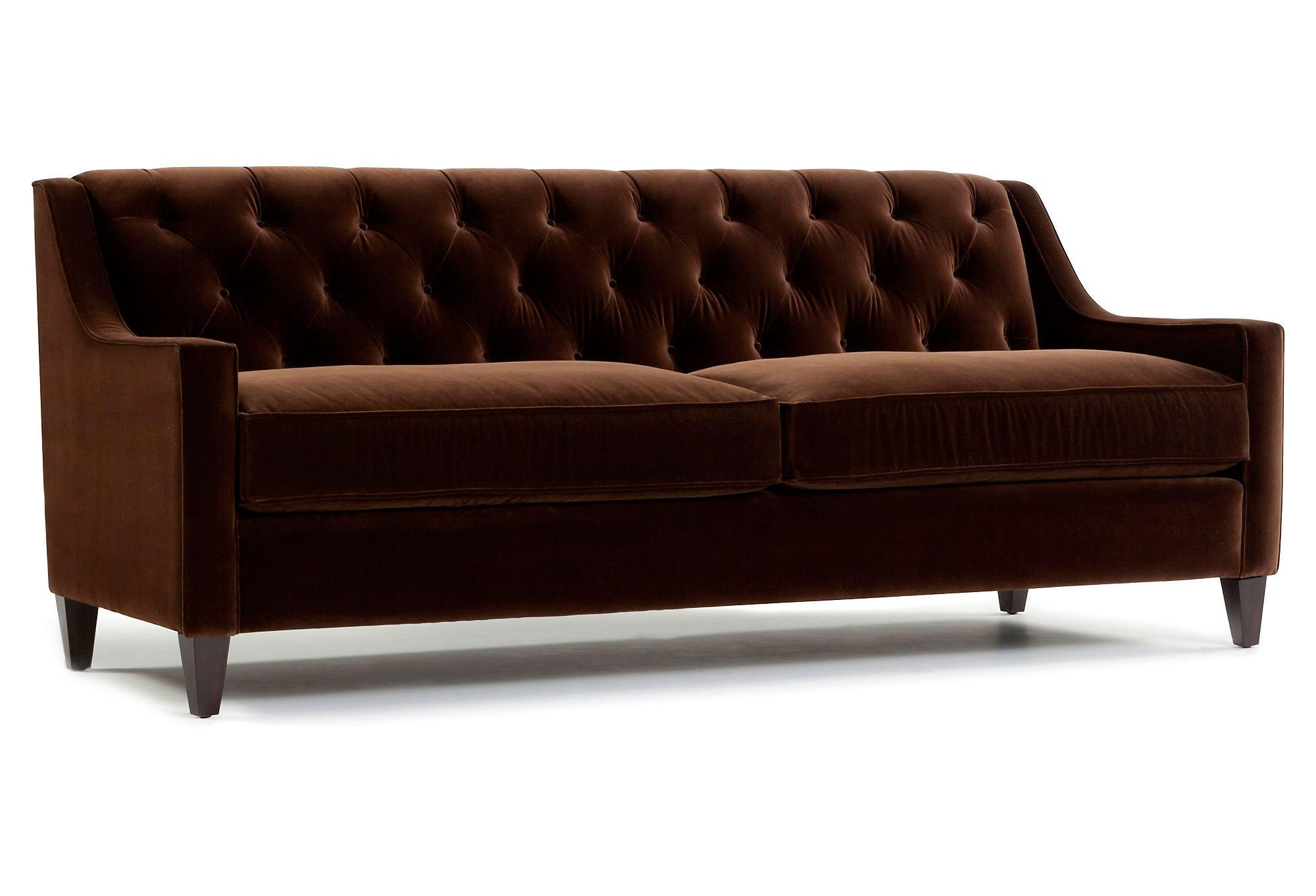 Featured Photo of Brown Velvet Sofas