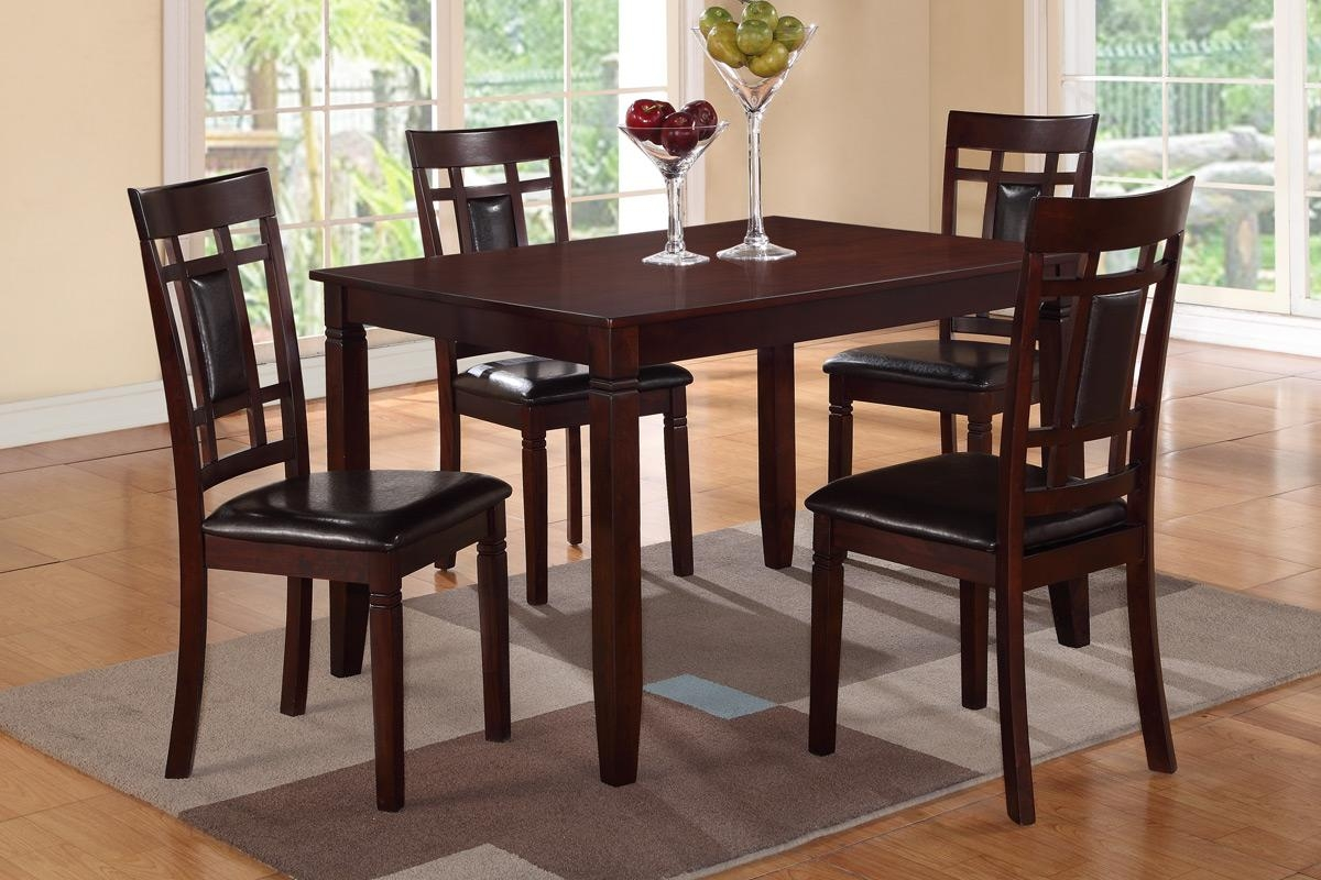 Brown Wood Dining Table And Chair Set – Steal A Sofa Furniture Inside Dining Table With Sofa Chairs (View 6 of 20)
