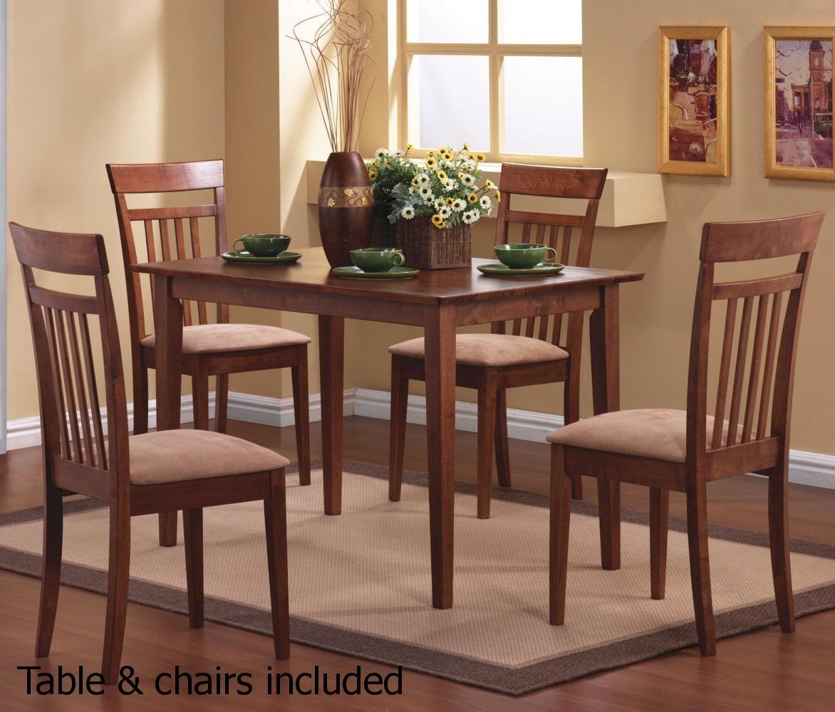 Brown Wood Dining Table And Chair Set – Steal A Sofa Furniture Pertaining To Dining Table With Sofa Chairs (View 3 of 20)