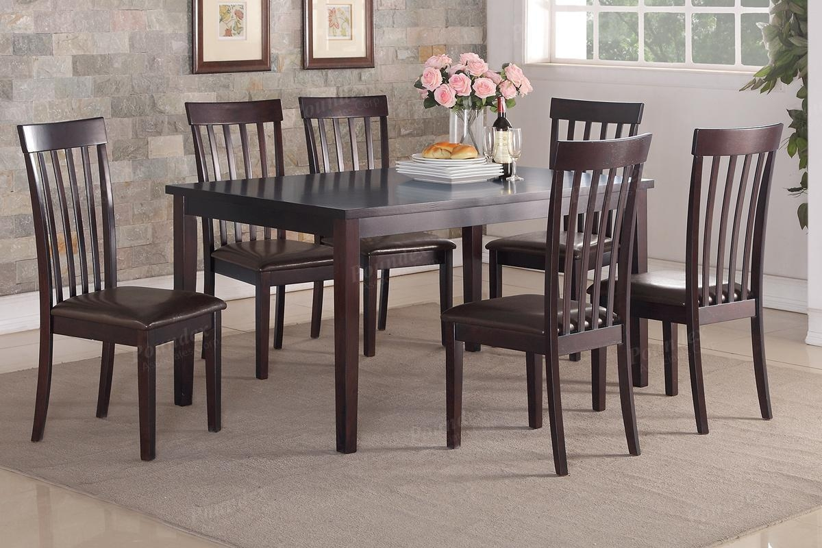 Brown Wood Dining Table And Chair Set – Steal A Sofa Furniture Throughout Dining Table With Sofa Chairs (View 17 of 20)
