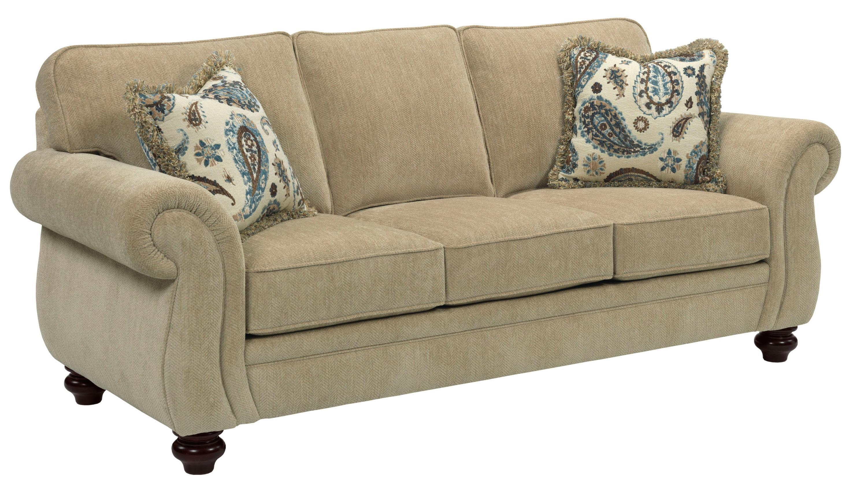Broyhill Furniture Cassandra Traditional Style Queen Size Throughout Broyhill Harrison Sofas (Image 4 of 20)