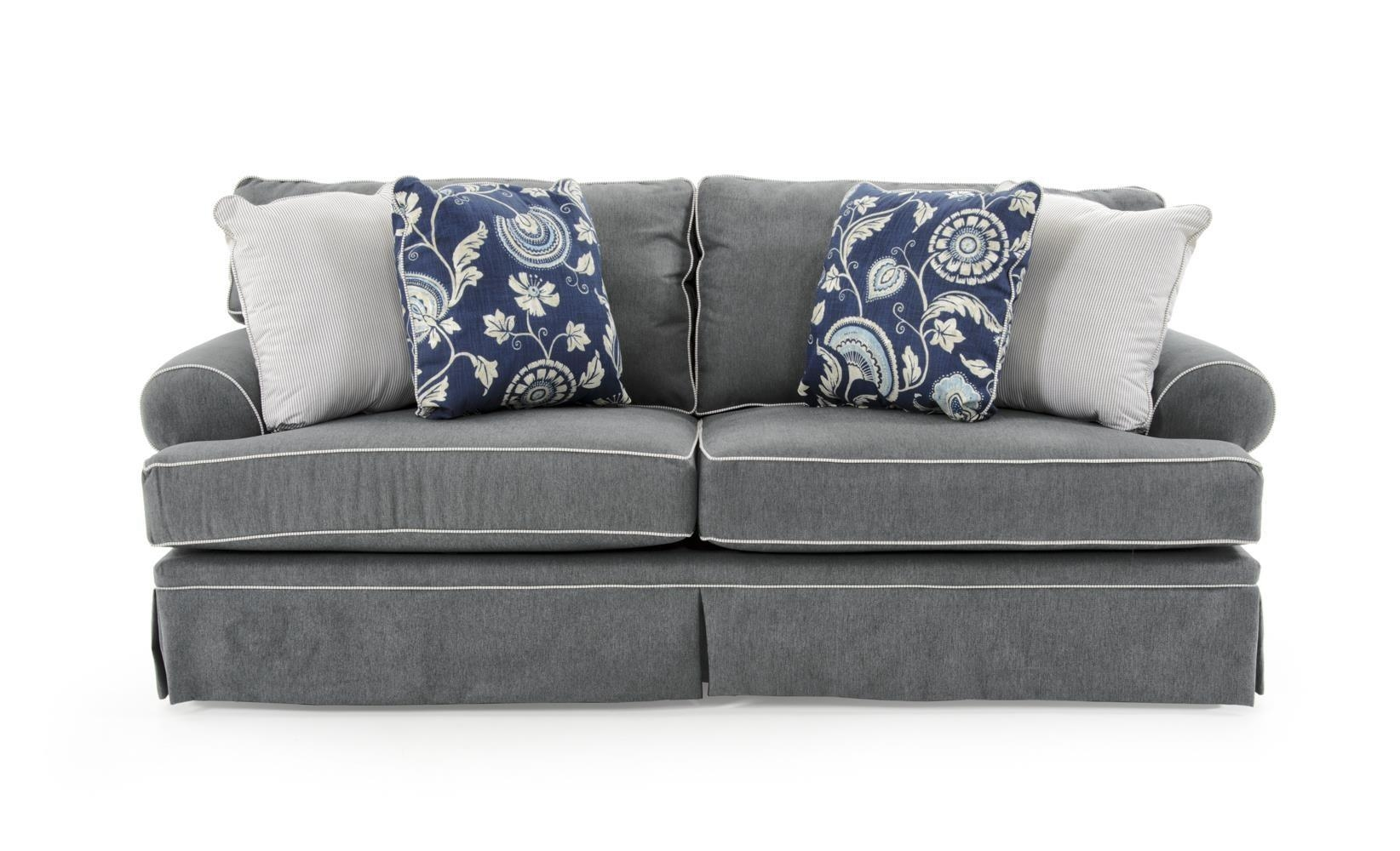Broyhill Furniture Emily Casual Style Sofa With Rolled Arms And Pertaining To Broyhill Emily Sofas (Image 8 of 20)