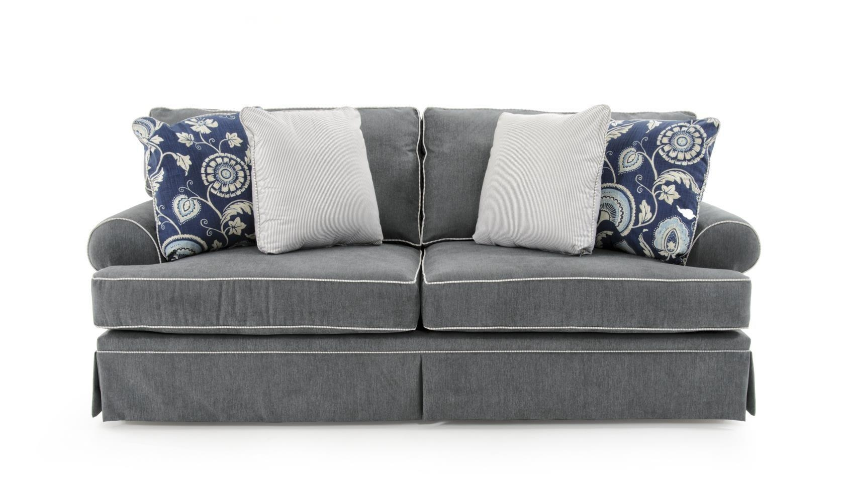 Broyhill Furniture Emily Queen Goodnight Sleeper Sofa – Baer's Intended For Emily Sofas (View 10 of 20)