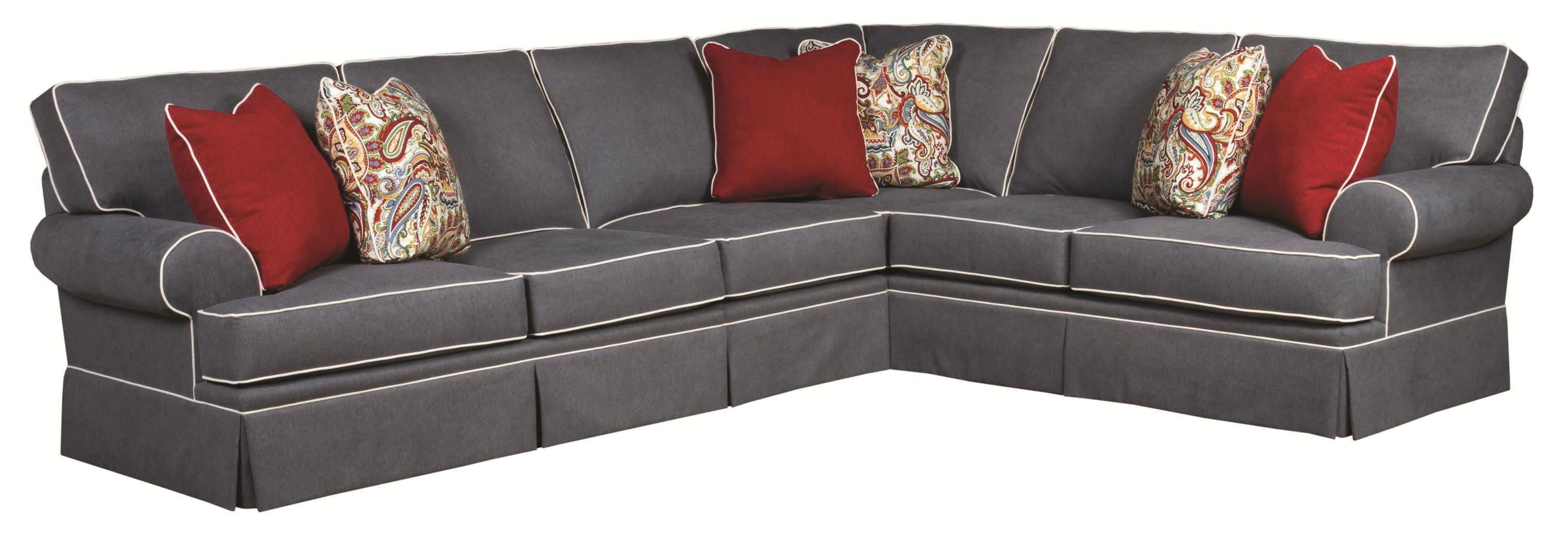 Broyhill Furniture Emily Traditional 3 Piece Sectional Sofa With Inside Broyhill Sectional Sofas (View 3 of 15)