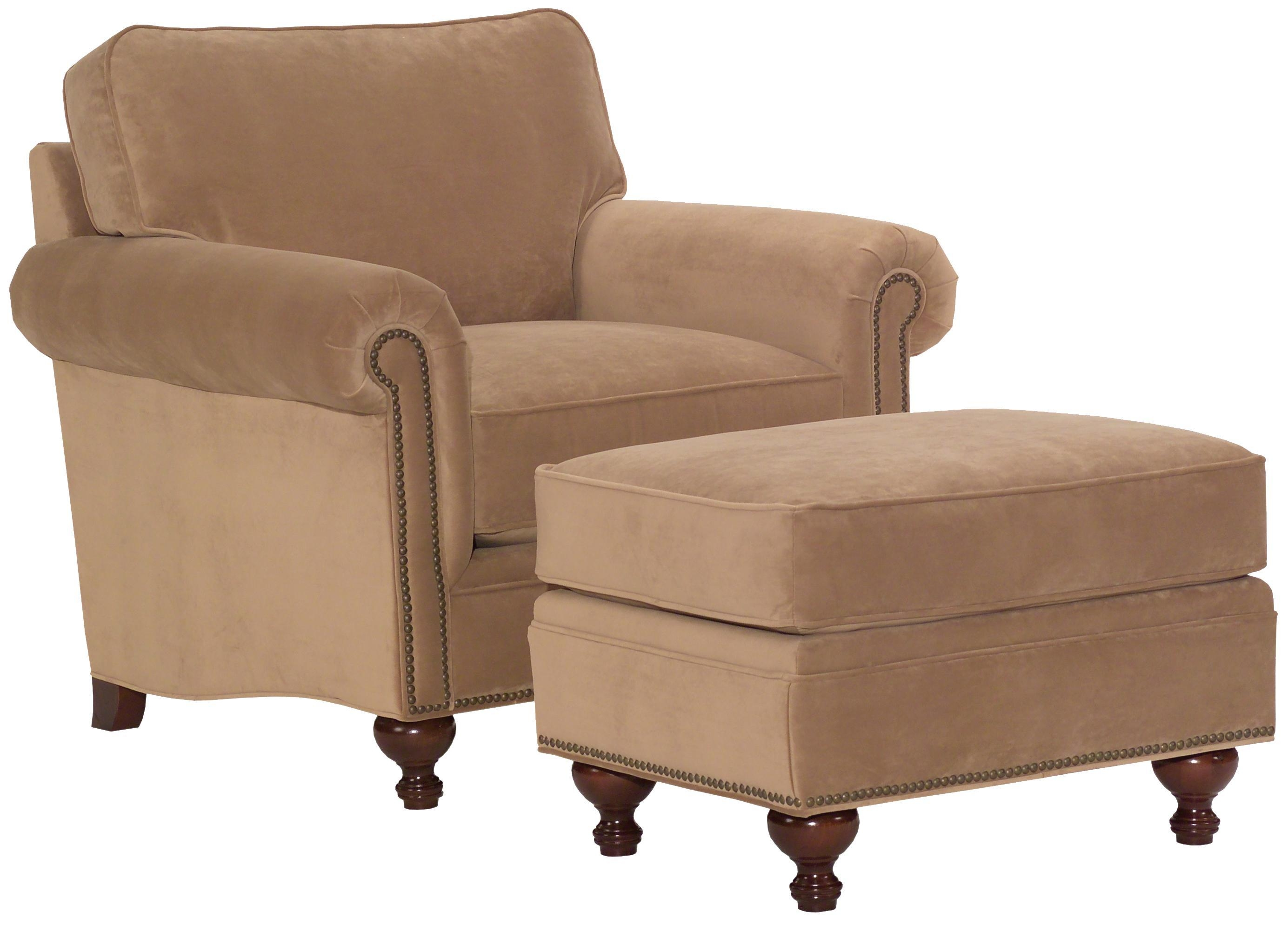 Broyhill Furniture Harrison Traditional Style Chair And Ottoman For Broyhill Harrison Sofas (Image 8 of 20)