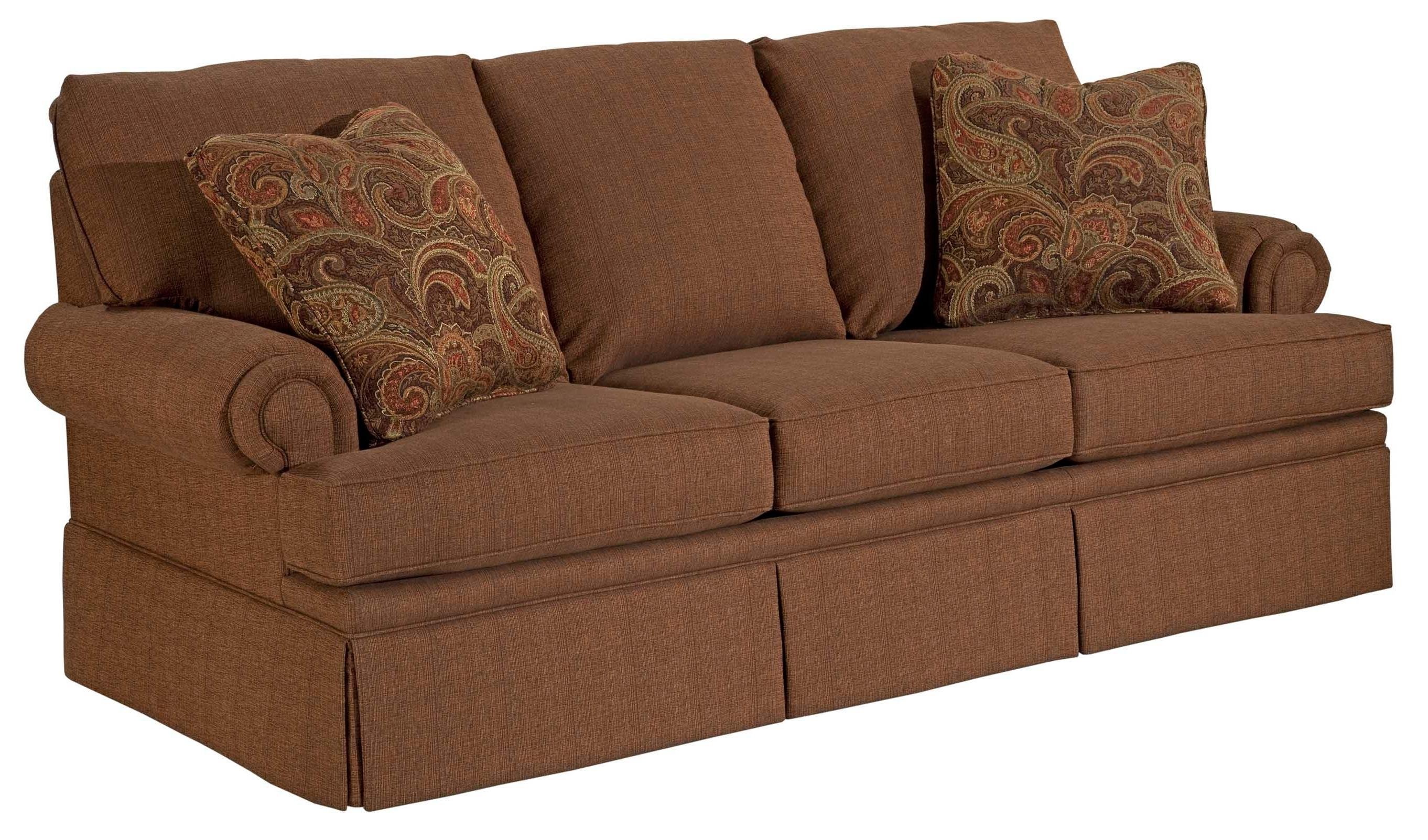 Broyhill Furniture Jenna Air Dream Sofa Sleeper With Queen Size Pertaining To Broyhill Sofas (Image 6 of 20)