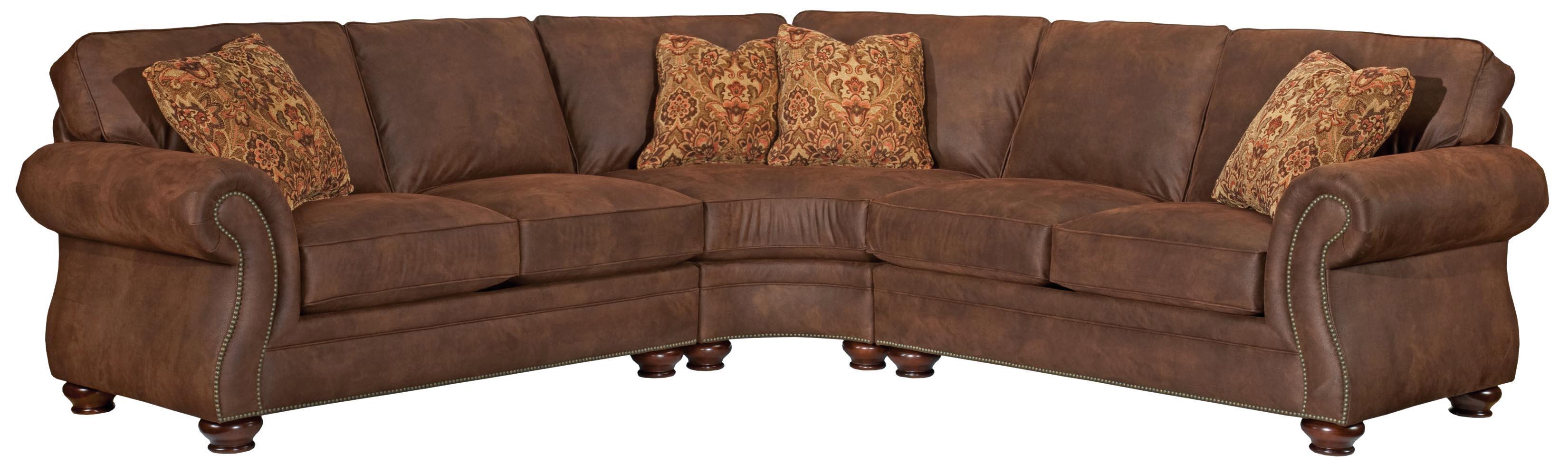 Broyhill Furniture Laramie 3 Piece Wedge Sectional Sofa – Wayside Regarding Broyhill Sectional Sleeper Sofas (Image 5 of 20)