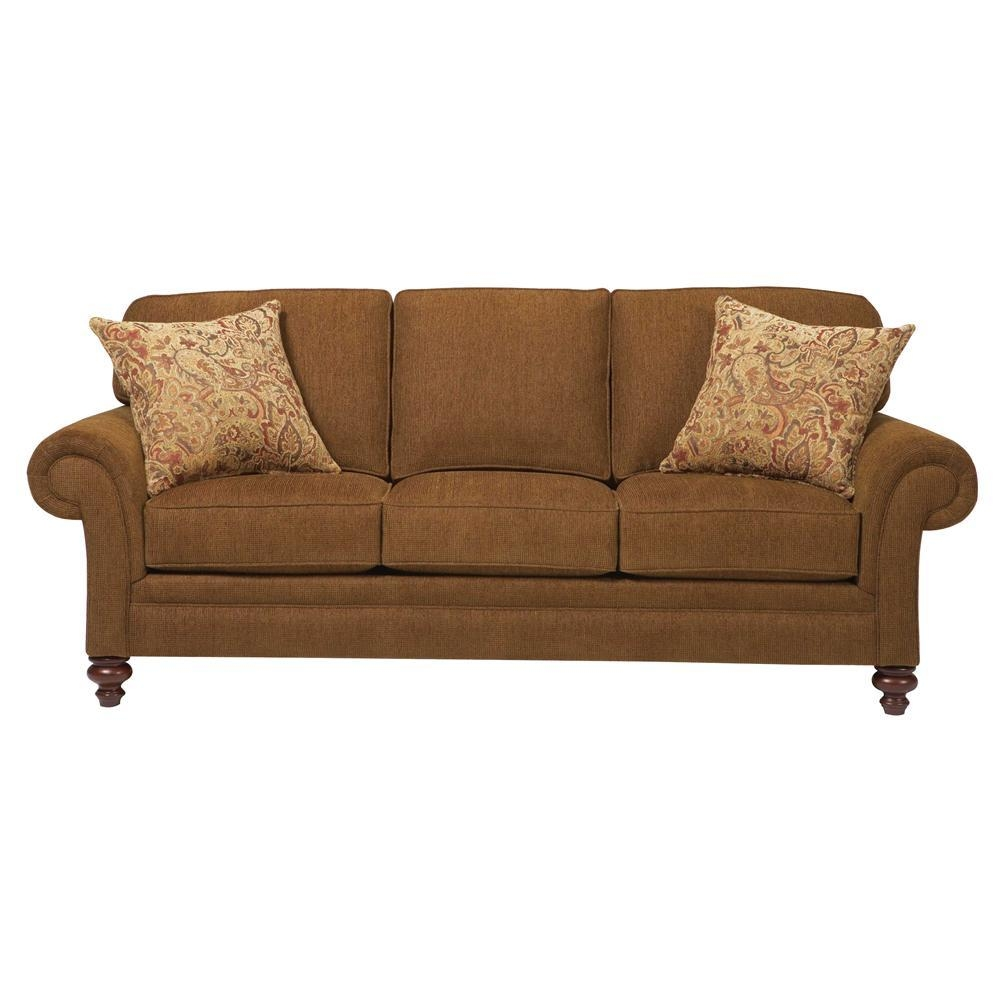 Broyhill Furniture Larissa Upholstered Stationary Sofa With Rolled For Broyhill Larissa Sofas (Image 2 of 20)
