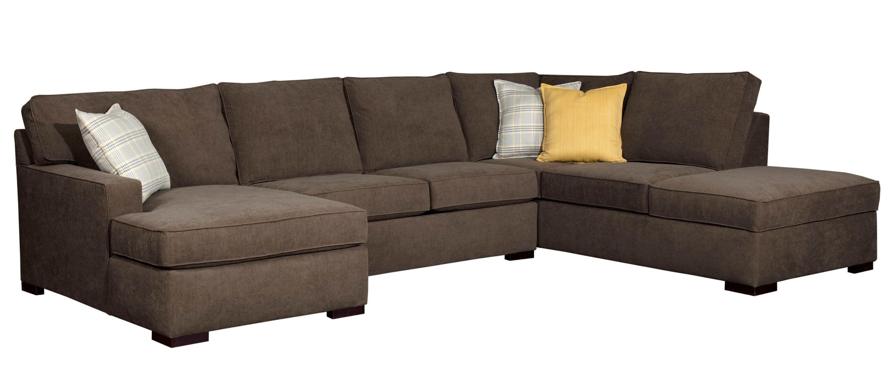 Broyhill Furniture Raphael Contemporary Sectional Sofa With Laf In Broyhill Sectional Sofas (Image 4 of 15)