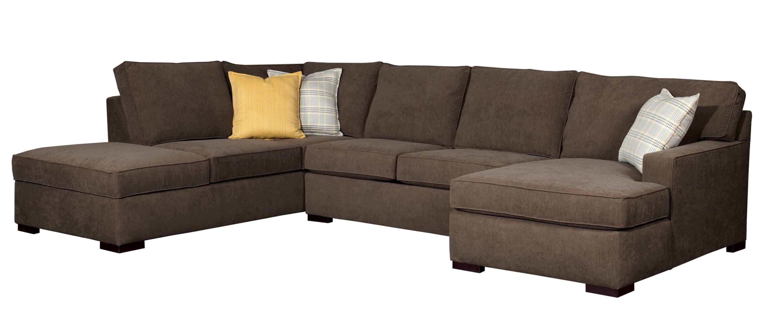 Broyhill Furniture Raphael Contemporary Sectional Sofa With Raf Inside Broyhill Sectional Sofas (Image 5 of 15)