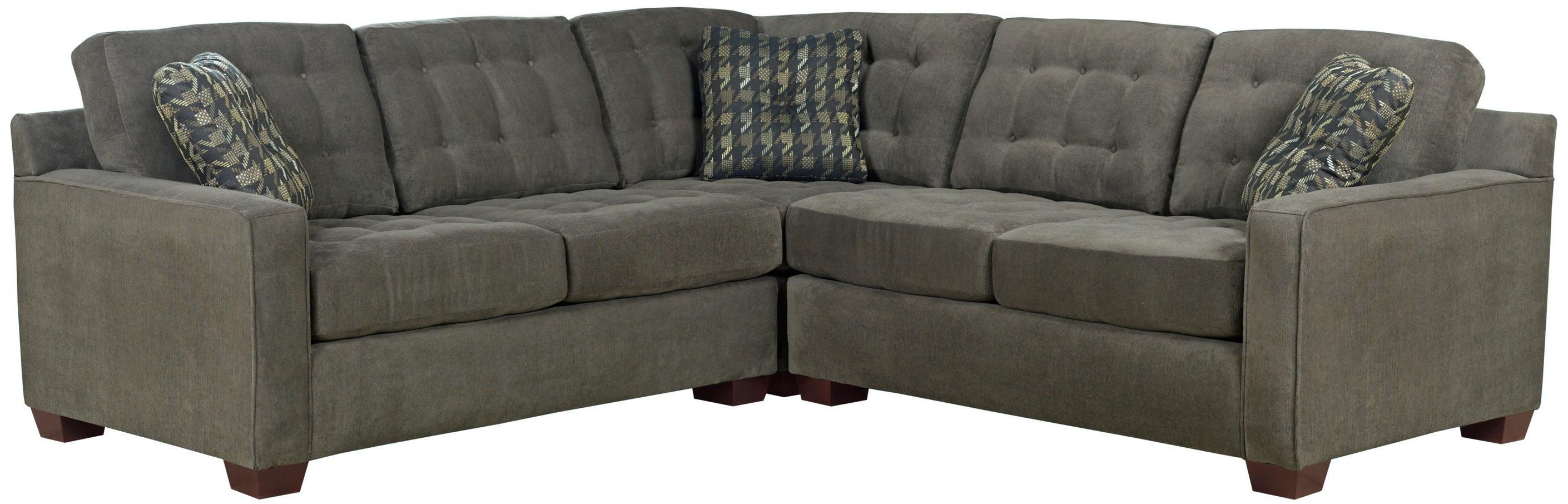 Broyhill Furniture Tribeca Contemporary L Shaped Sectional Sofa For Broyhill Sectional Sofas (Image 6 of 15)