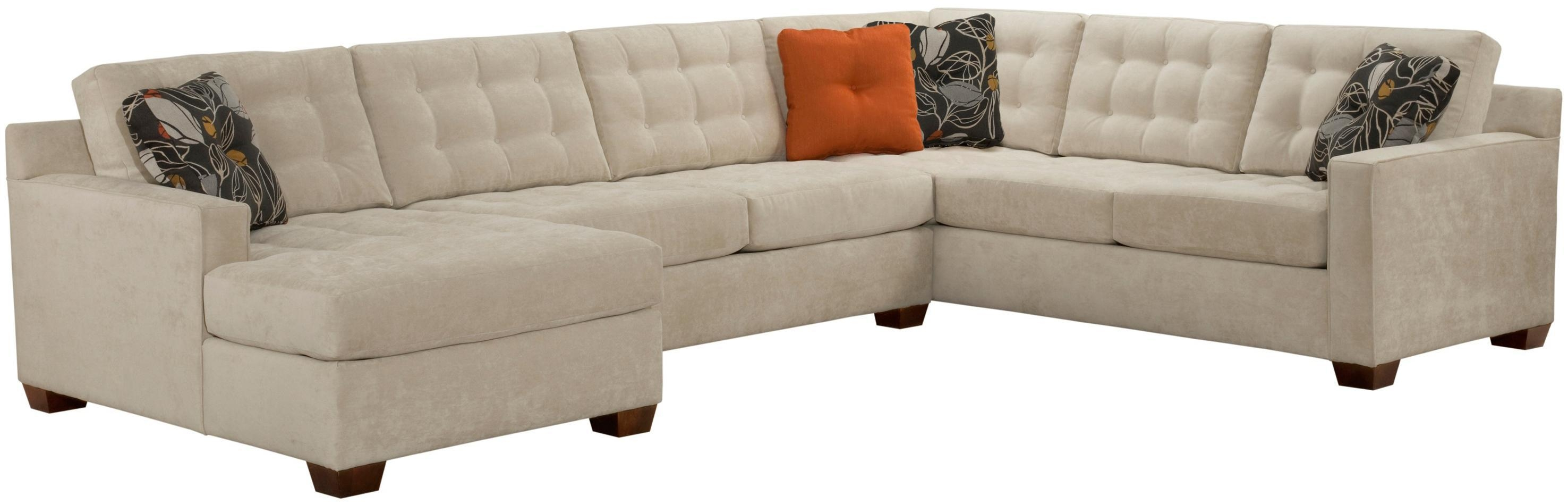 Broyhill Furniture Tribeca Contemporary Sectional Sofa With Left Pertaining To Broyhill Sectional Sofas (Image 7 of 15)