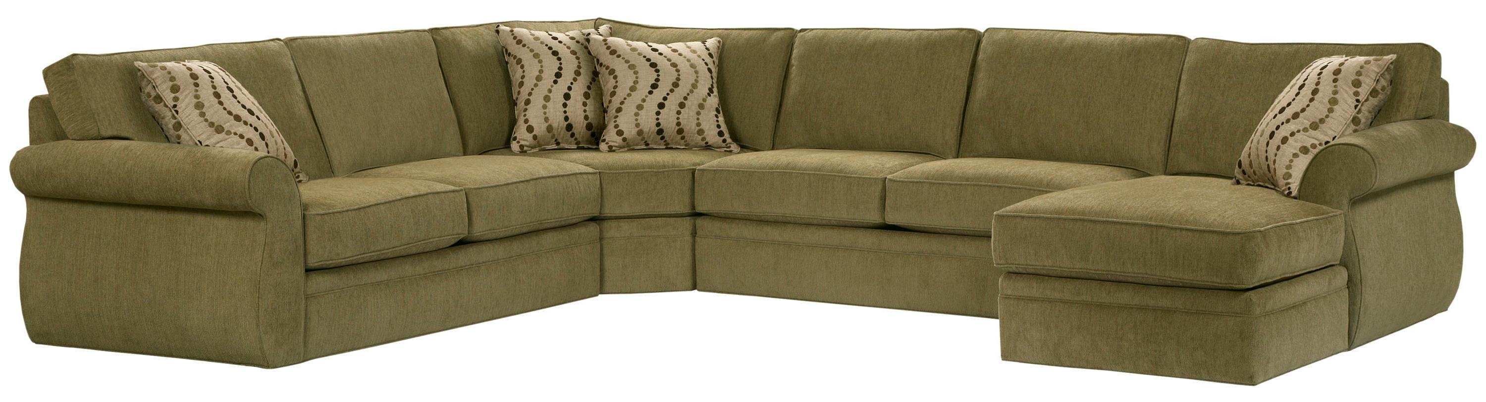 Broyhill Furniture Veronica Right Arm Facing Customizable Chaise Inside Broyhill Sectional Sofas (Image 8 of 15)