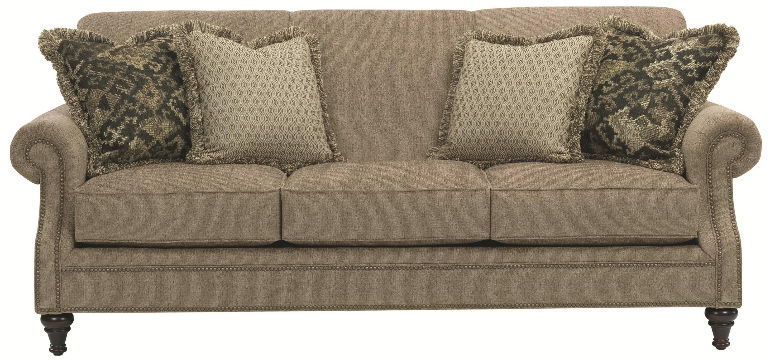 Broyhill Furniture Windsor Sofa With Rolled Arms – Wayside Intended For Windsor Sofas (Image 1 of 20)