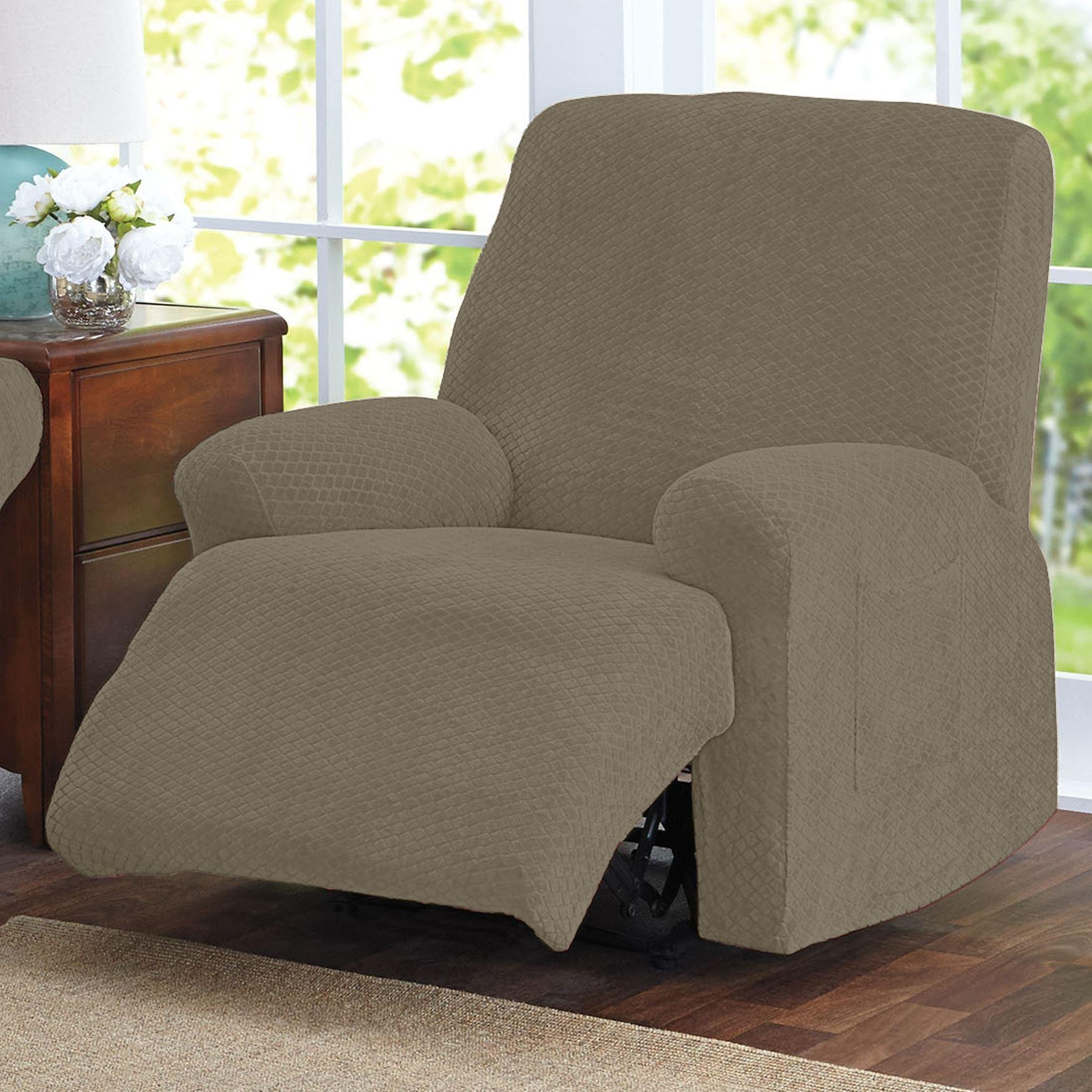 Brylanehome® Studio Stretch Diamond Recliner Slipcover | Recliner Within Stretch Covers For Recliners (Image 3 of 20)