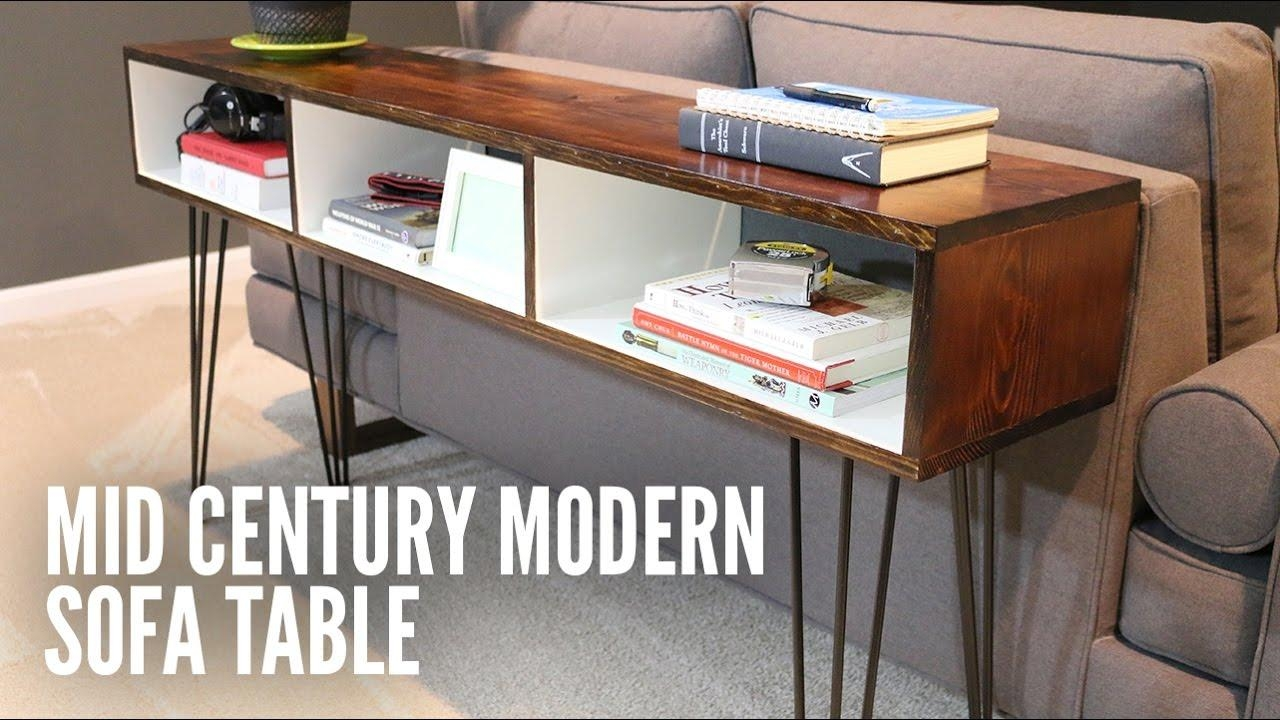 Build A Mid Century Modern Sofa Table – Youtube Within Computer Sofa Tables (Image 5 of 20)
