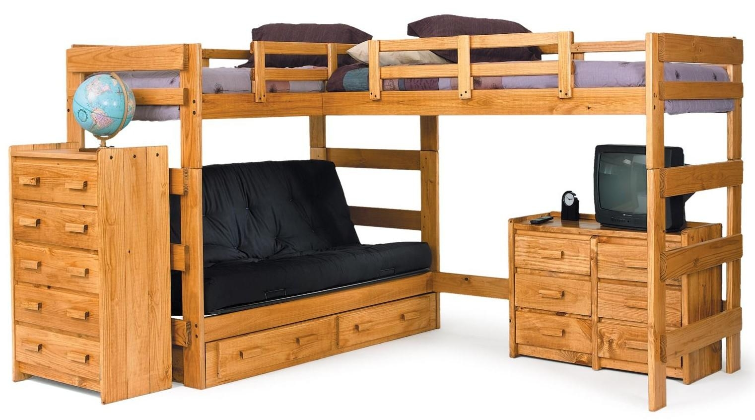 Bunk Beds With CouchFuton Bunk Bed With Desk Foter