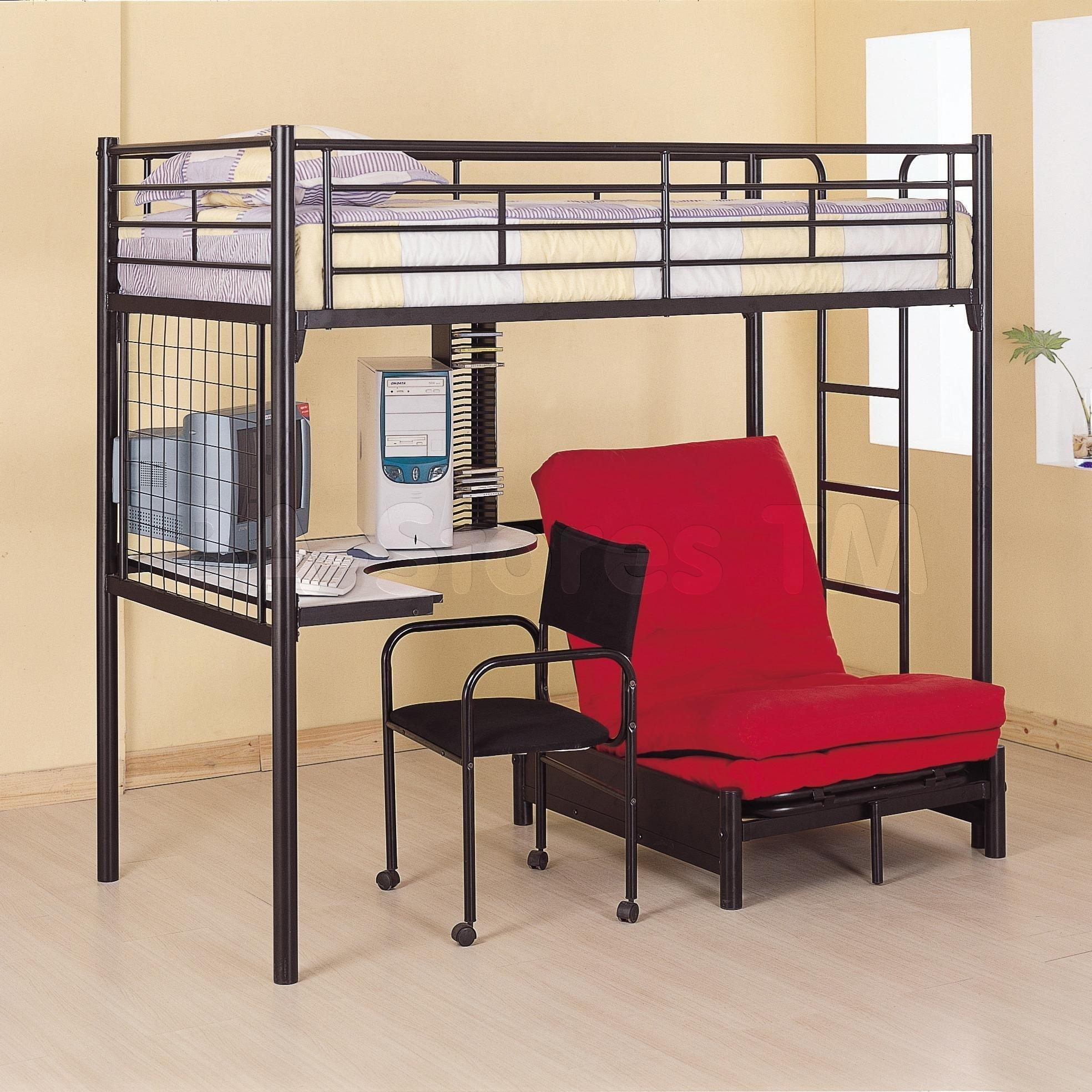 20 s Bunk Bed With Sofas Underneath