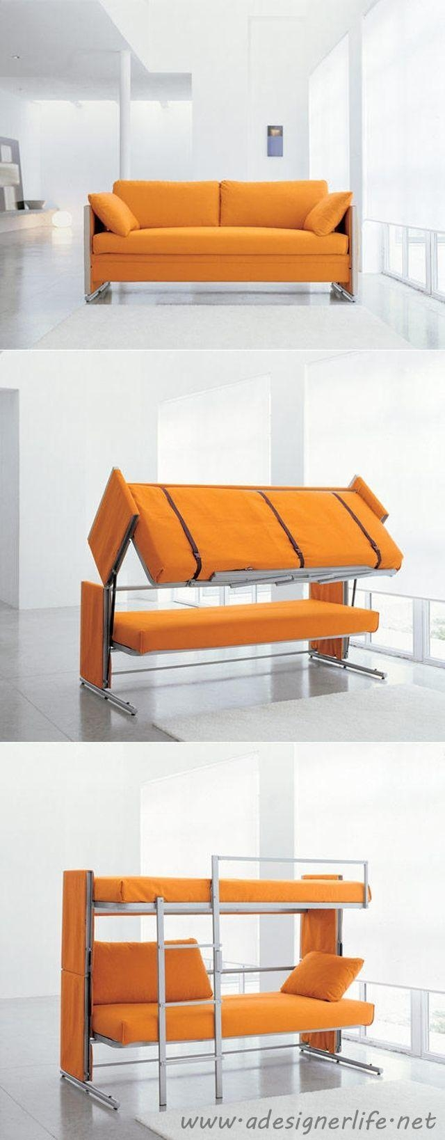 Bunk Beds : Fold Out Couch Bunk Bed Couch Converts To Bunk Beds In Sofas Converts To Bunk Bed (Image 5 of 20)