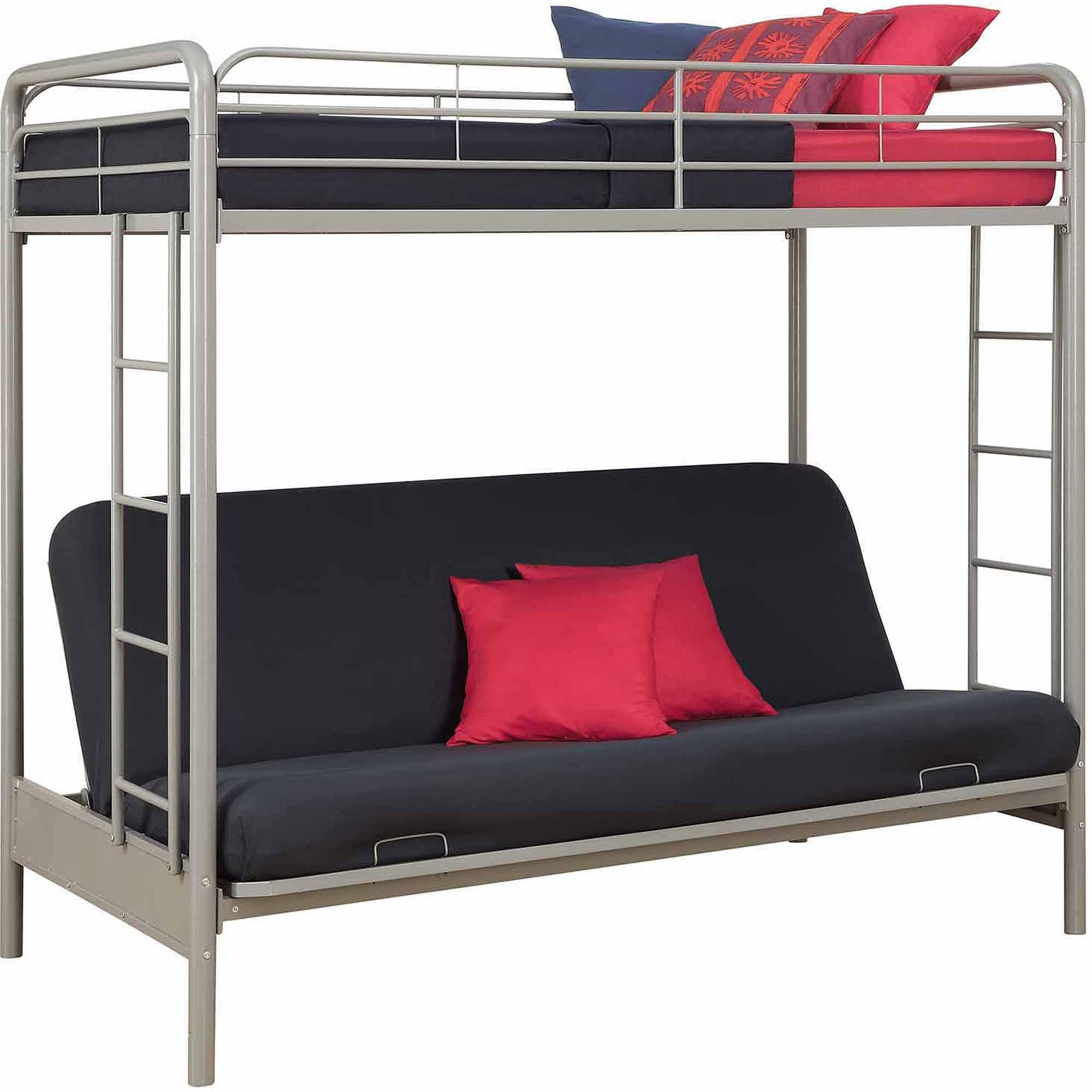 Bunk Beds : Futon With Bunk Bed On Top Futon Loft Bed Kmart Bunk Pertaining To Kmart Futon Beds (View 18 of 20)