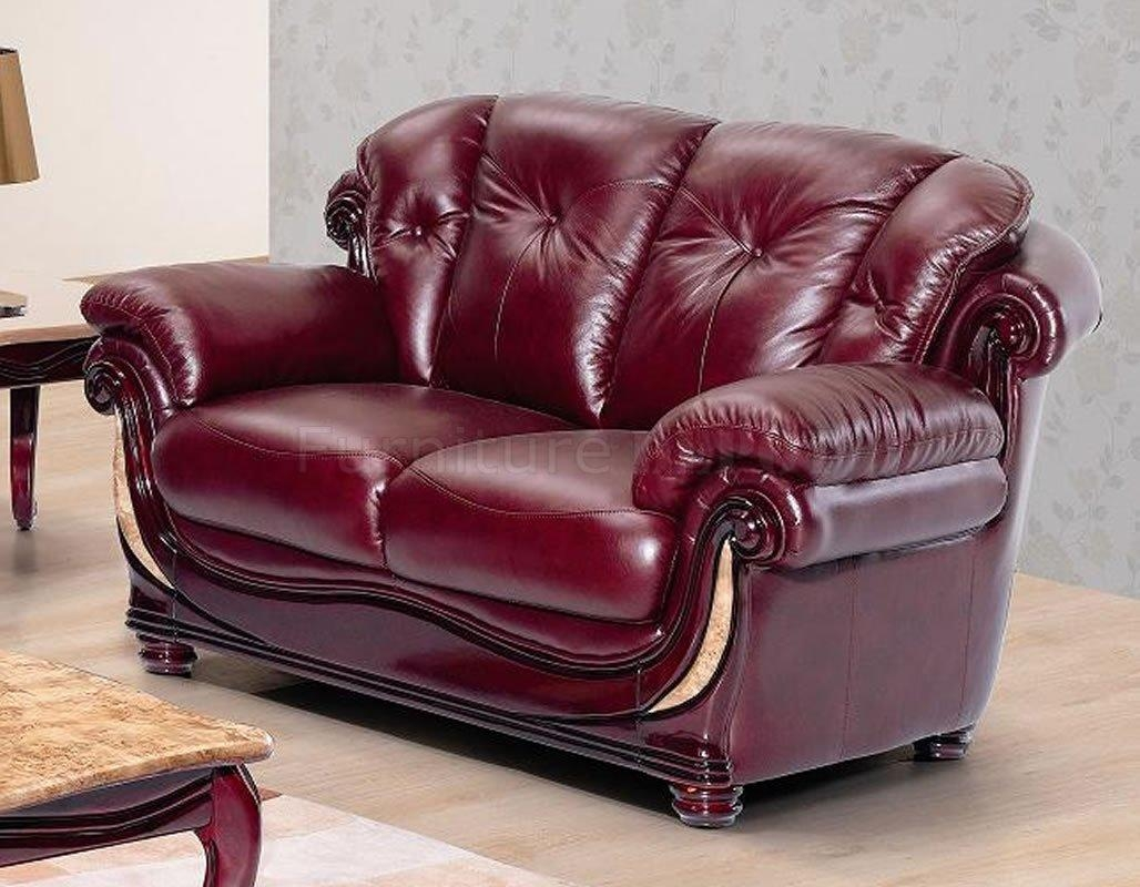 Burgundy Leather Sofa Set | Sofa Gallery | Kengire Inside Burgundy Leather Sofa Sets (View 7 of 20)