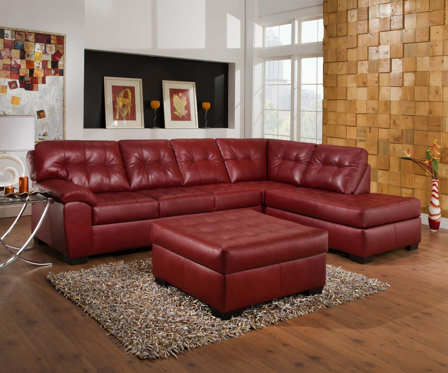 Burgundy Leather Sofa Set With Design Ideas 37114 | Kengire Intended For Burgundy Leather Sofa Sets (View 9 of 20)