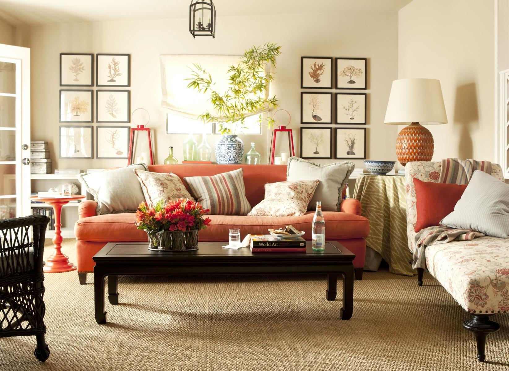 Burnt Orange Leather Living Room Set Bedroom Engaging Orange With Orange Sofa Chairs (View 6 of 20)