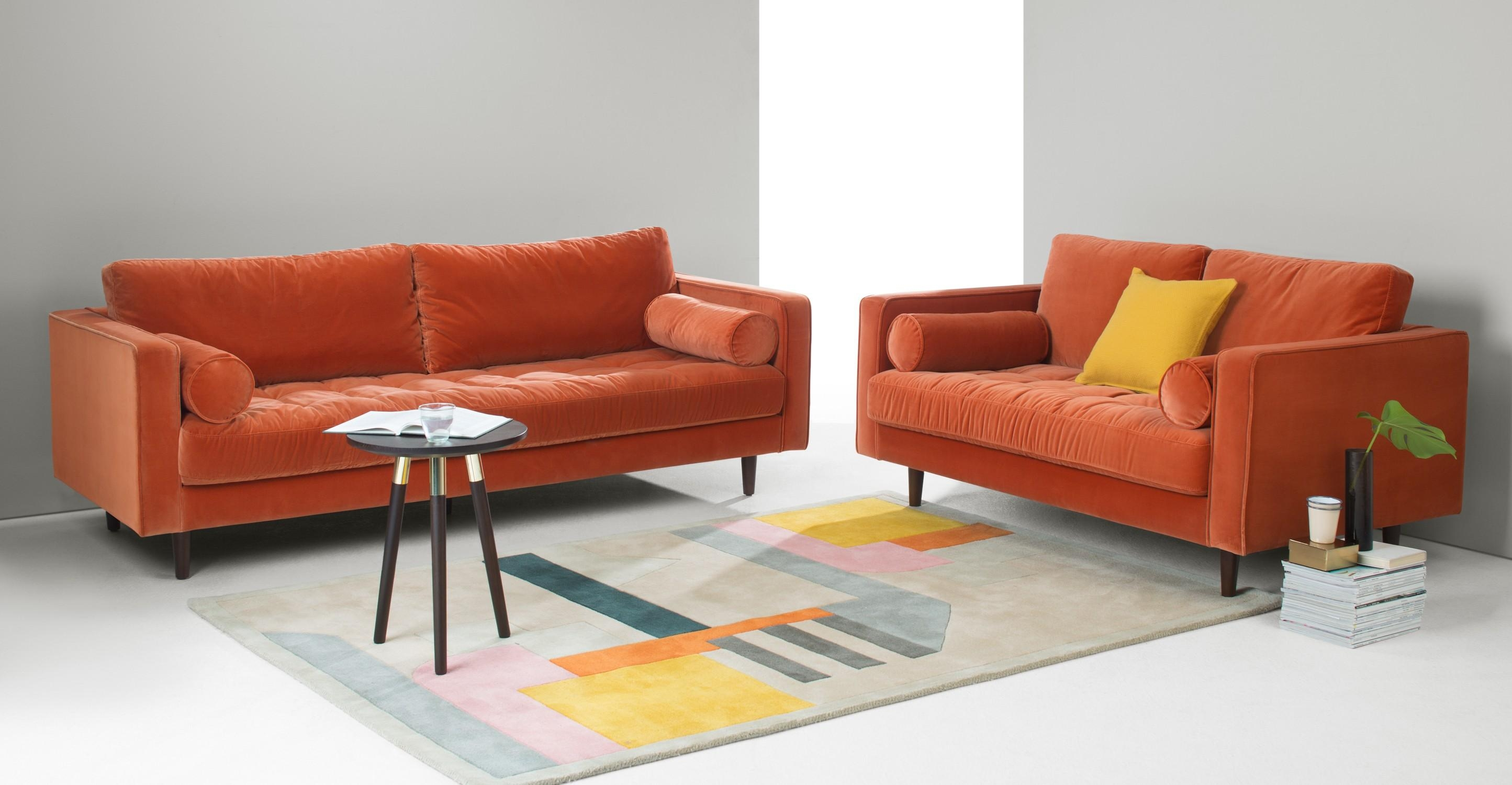 Burnt Orange Sofa Orange Sofa – Thesofa Throughout Burnt Orange Sofas (Image 4 of 20)