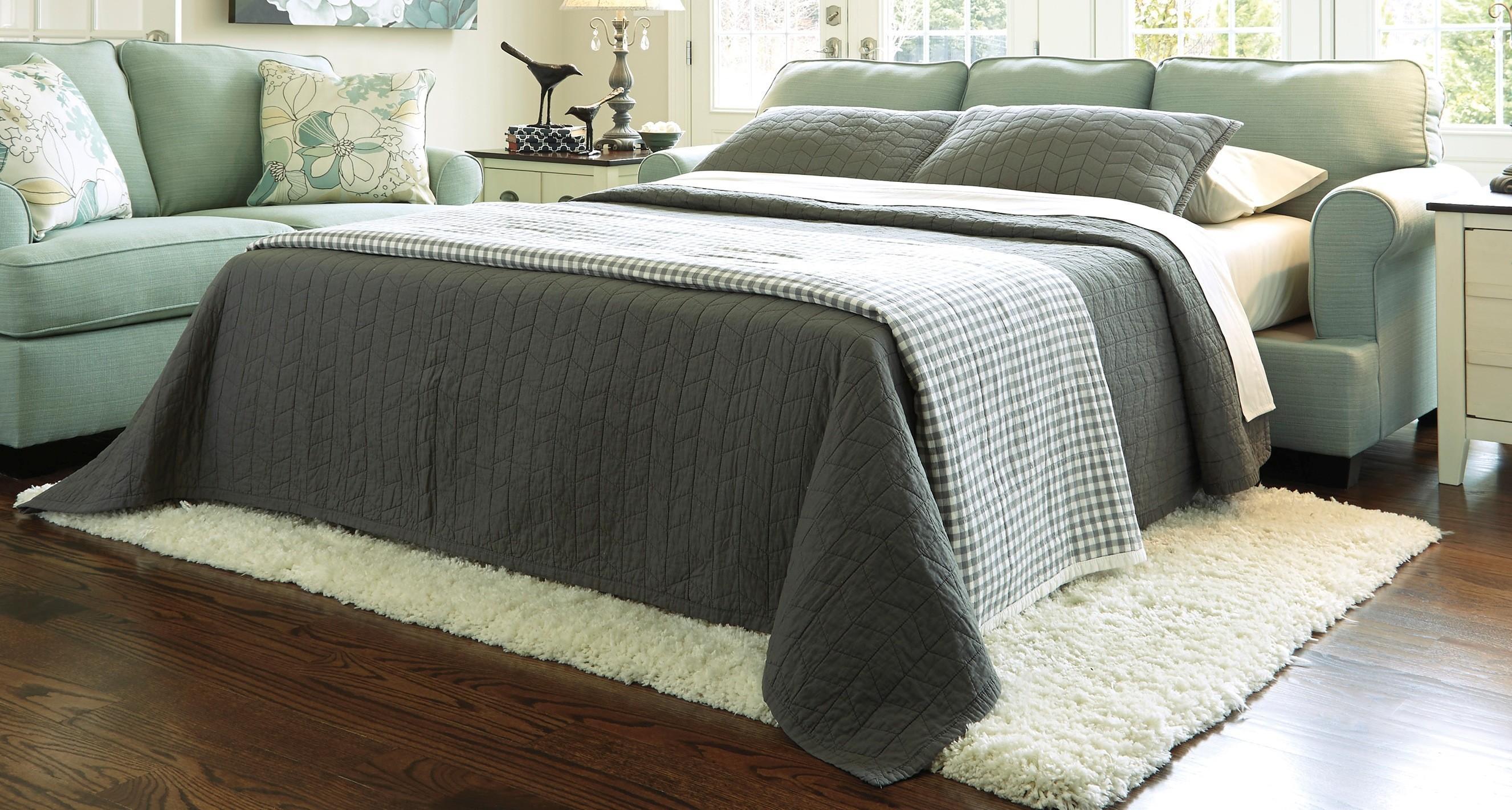 Buy Ashley Furniture 2820039 Daystar Seafoam Queen Sofa Sleeper Inside Seafoam Sofas (Image 2 of 20)