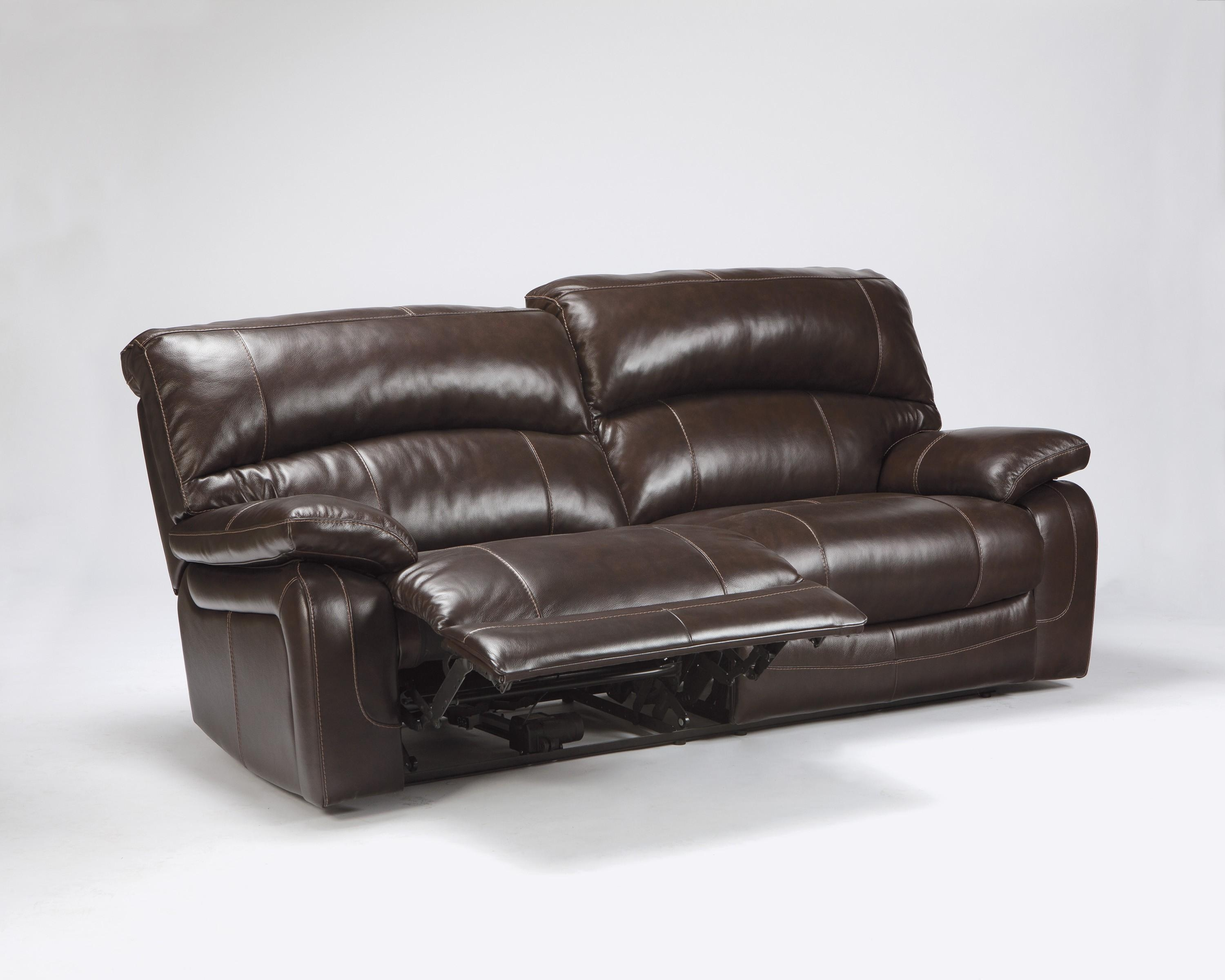Buy Damacio – Dark Brown Two Seat Reclining Power Sofa Regarding 2 Seater Recliner Leather Sofas (Image 6 of 20)