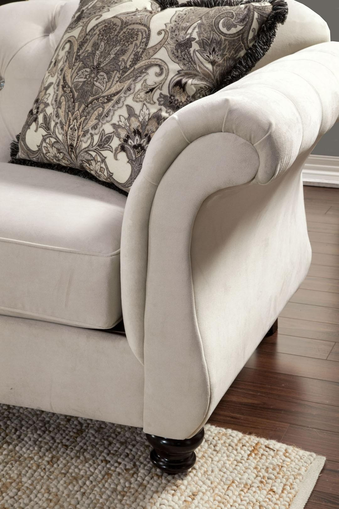 Buy Furniture Of America Sm2221 Sf Antoinette Sofa In Ivory With Antoinette Sofas (View 11 of 20)
