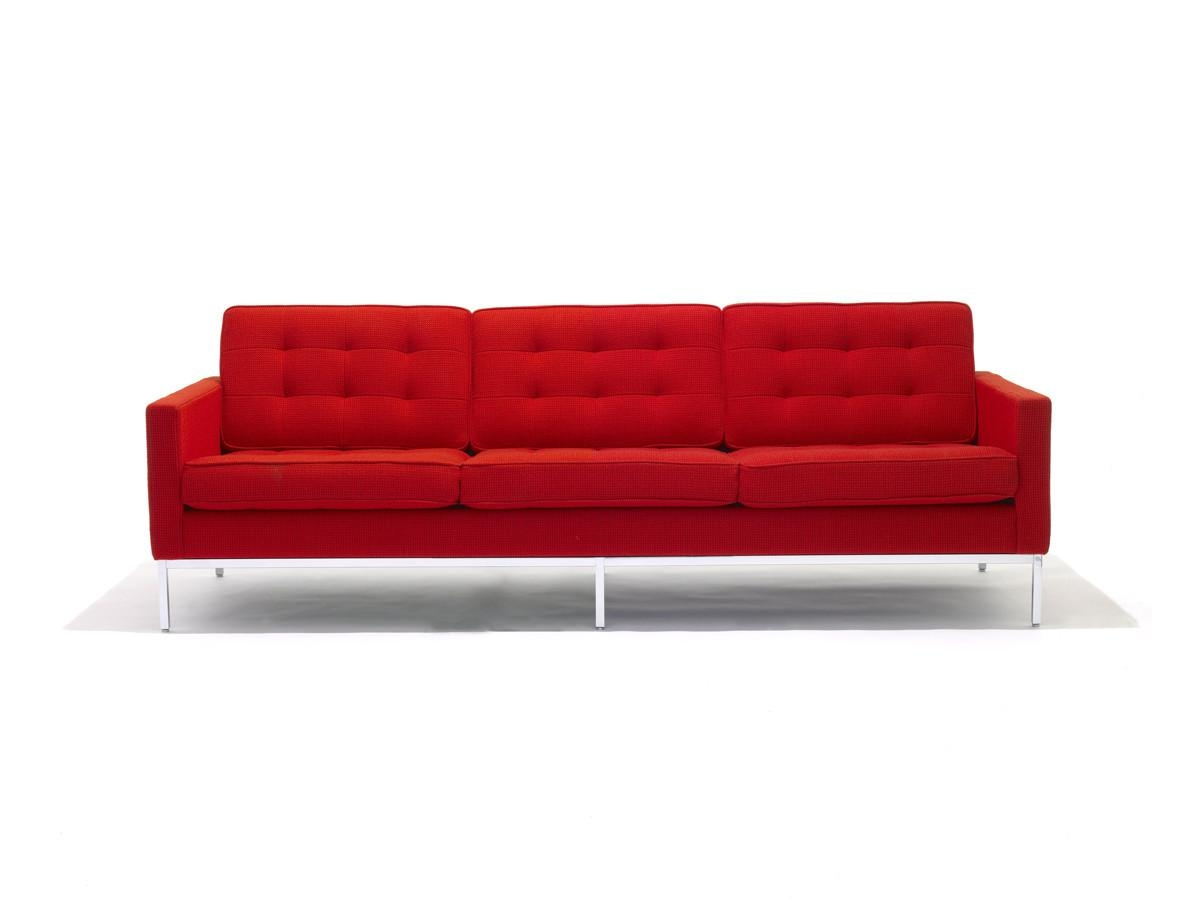 Buy The Knoll Studio Knoll Florence Knoll Three Seater Sofa At Regarding Florence Knoll Fabric Sofas (Image 1 of 20)