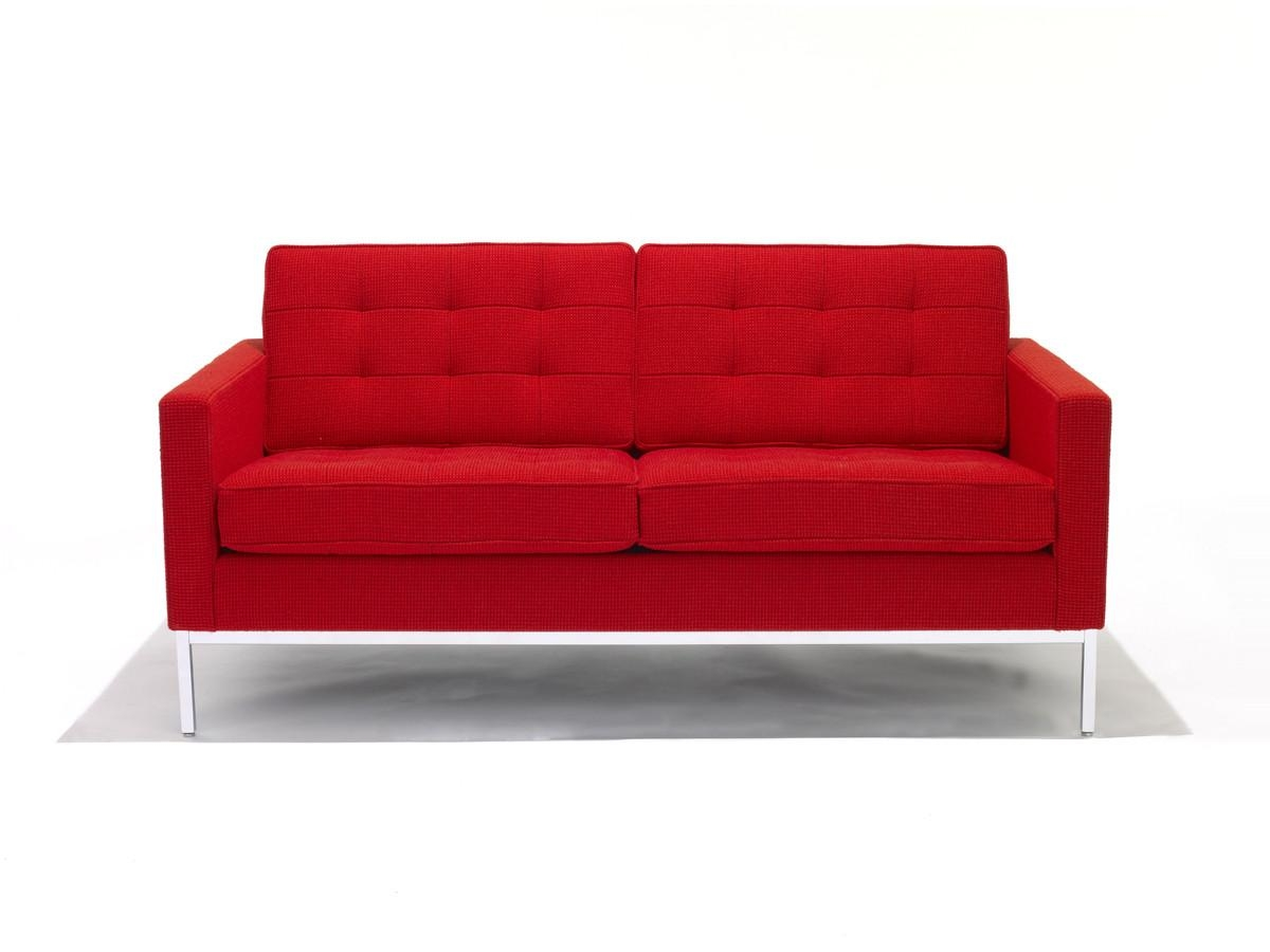 Buy The Knoll Studio Knoll Florence Knoll Two Seater Sofa At Nest With Regard To Florence Knoll Wood Legs Sofas (Image 4 of 20)