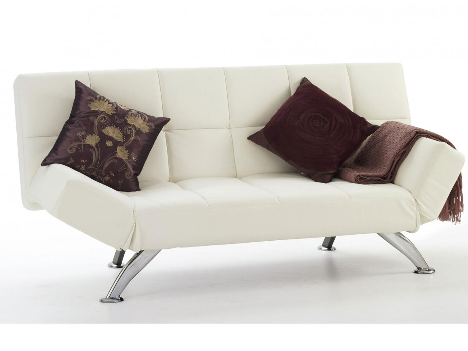 Buy Venice Faux Leather Click Clack Sofa Beds Uk Free Delivery Within Clic Clac Sofa Beds (Image 1 of 20)