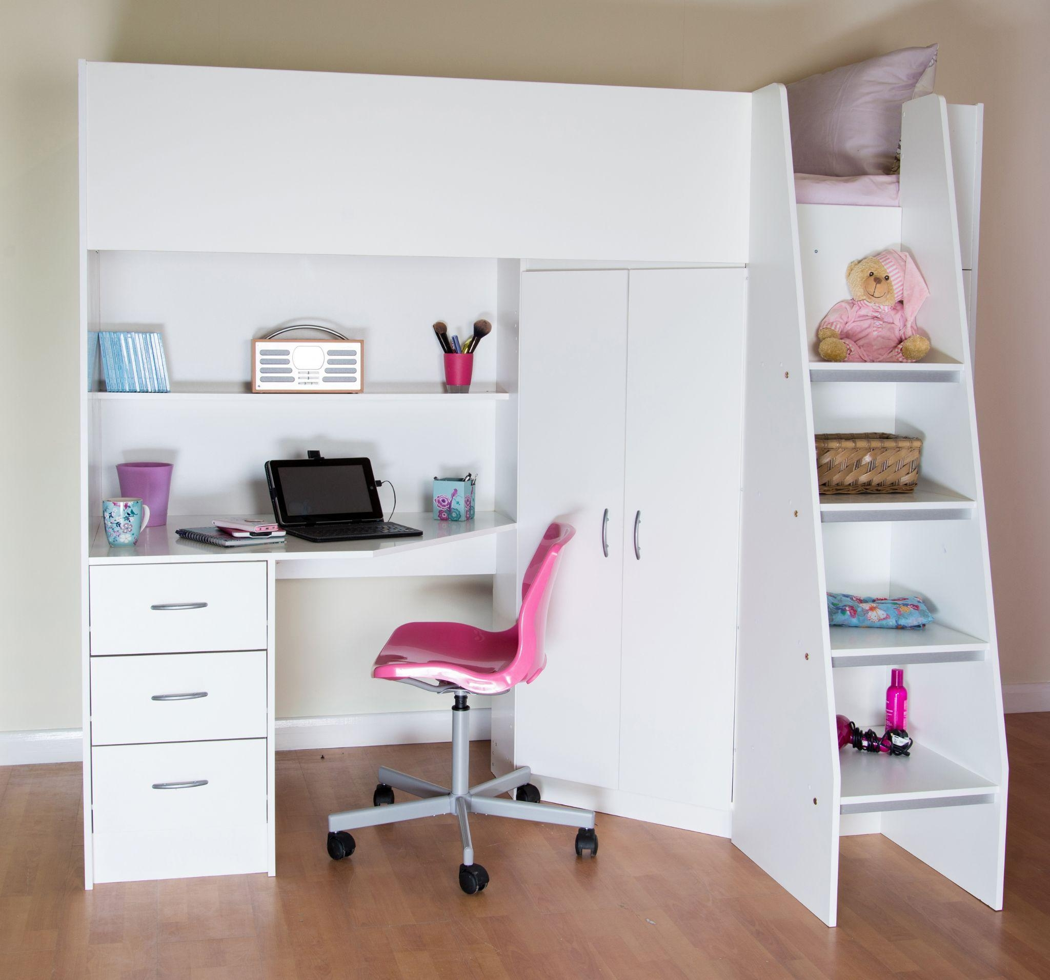 Cabin Beds, Childrens And Teenagers Beds, Within High Sleeper With Sofa And Desk (Image 2 of 20)