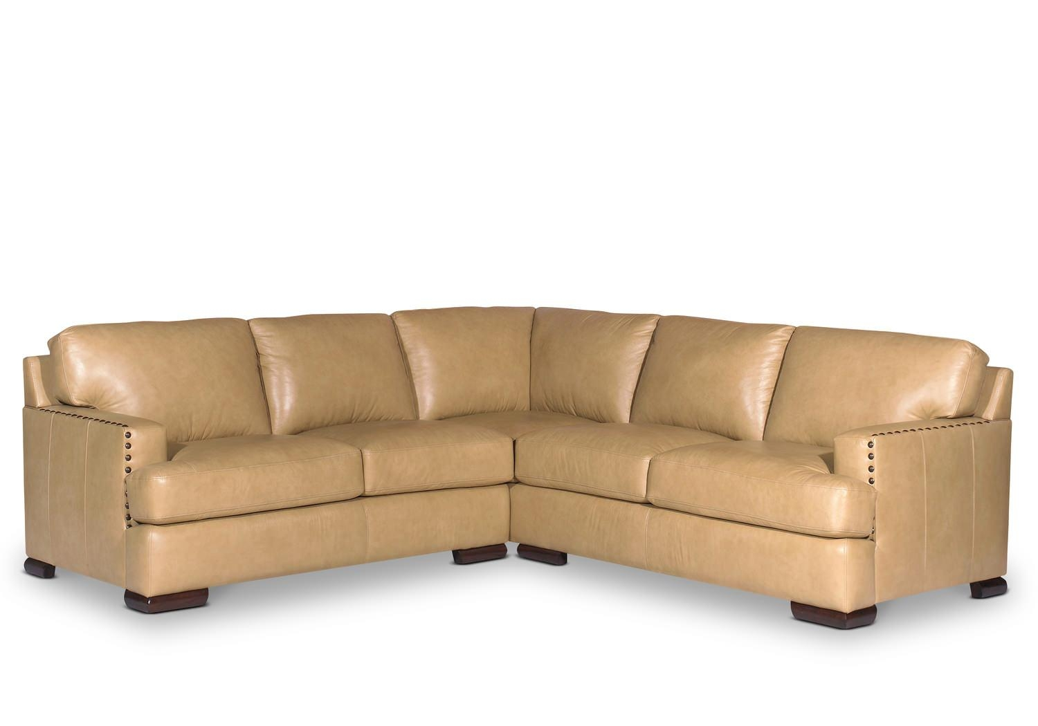 Cajole 2 Piece Leather Sectional | Hom Furniture | Furniture In Craftmaster Sectional (View 15 of 15)