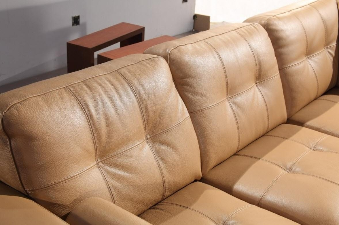 Camel Color Leather Sofa With Design Photo 19339 | Kengire Pertaining To Camel Sectional Sofa (Image 1 of 15)
