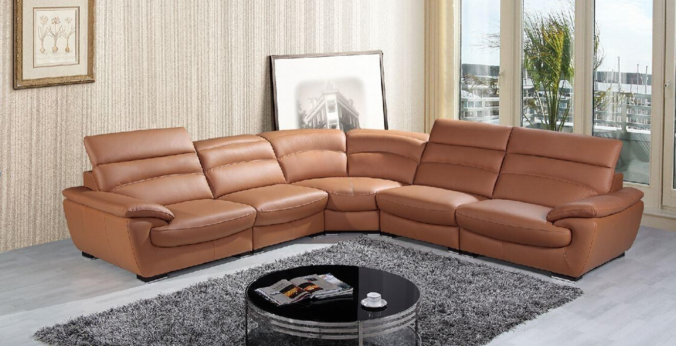 Camel Leather Sofa With Inspiration Picture 4008 | Kengire Regarding Camel Sectional Sofa (Image 7 of 15)