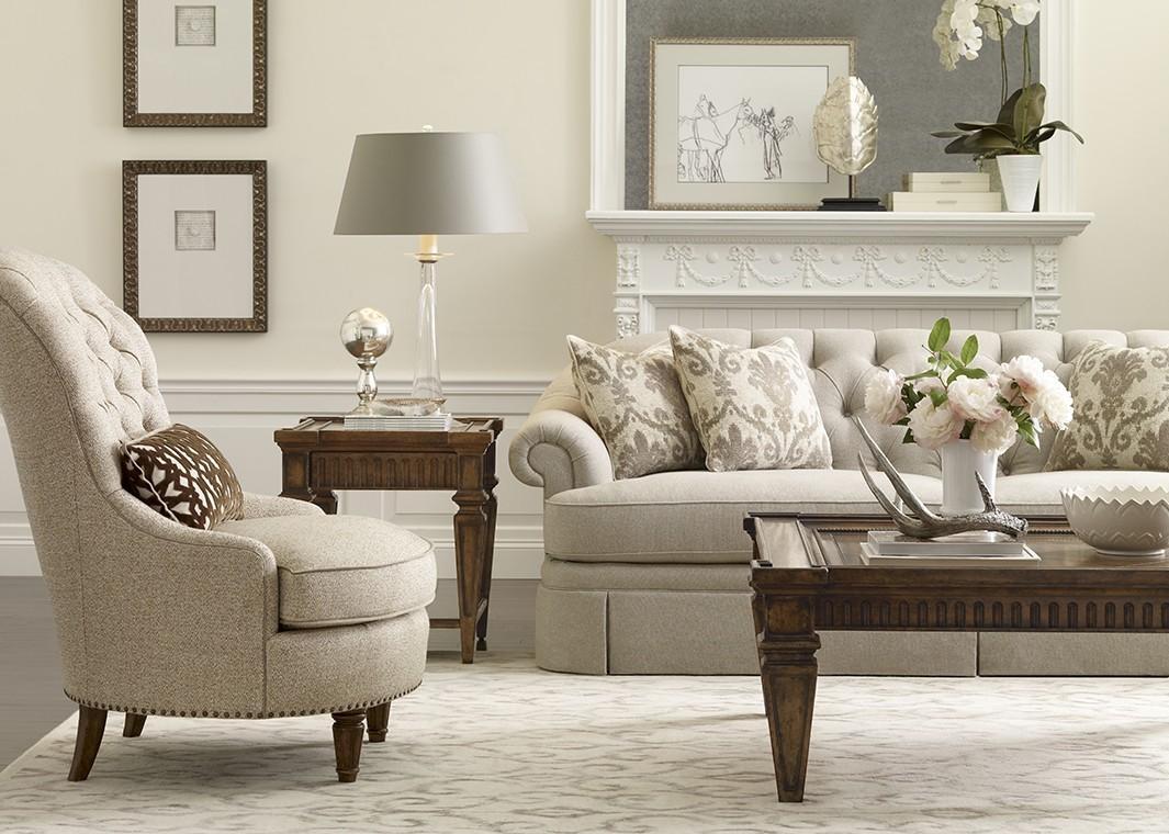 Camel Tweed Fabric Sofa With Light Beige Finish Inside Tweed Fabric Sofas (Image 5 of 20)