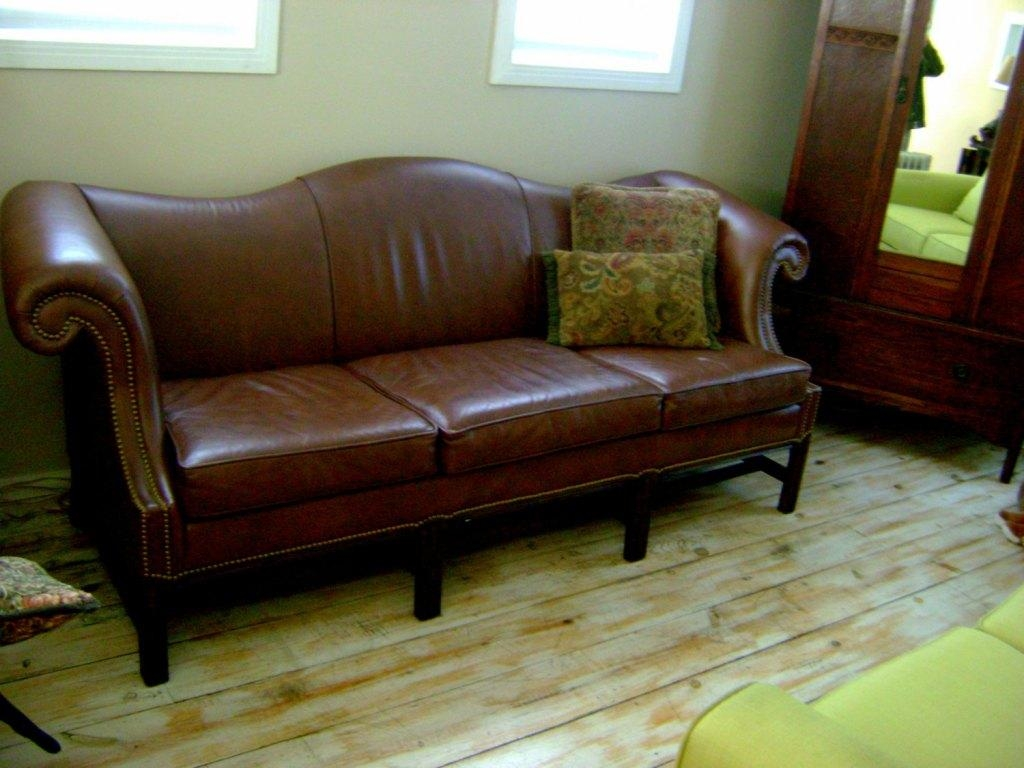 Camelback Leather Sofa For Decorate The Living Room — Home Design Pertaining To Camelback Leather Sofas (View 9 of 20)
