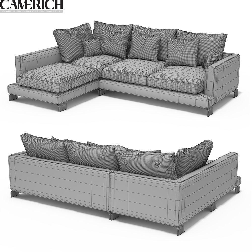 Camerich Lazy Time Sofa 3D | Cgtrader Regarding Camerich Sofas (Image 8 of 19)