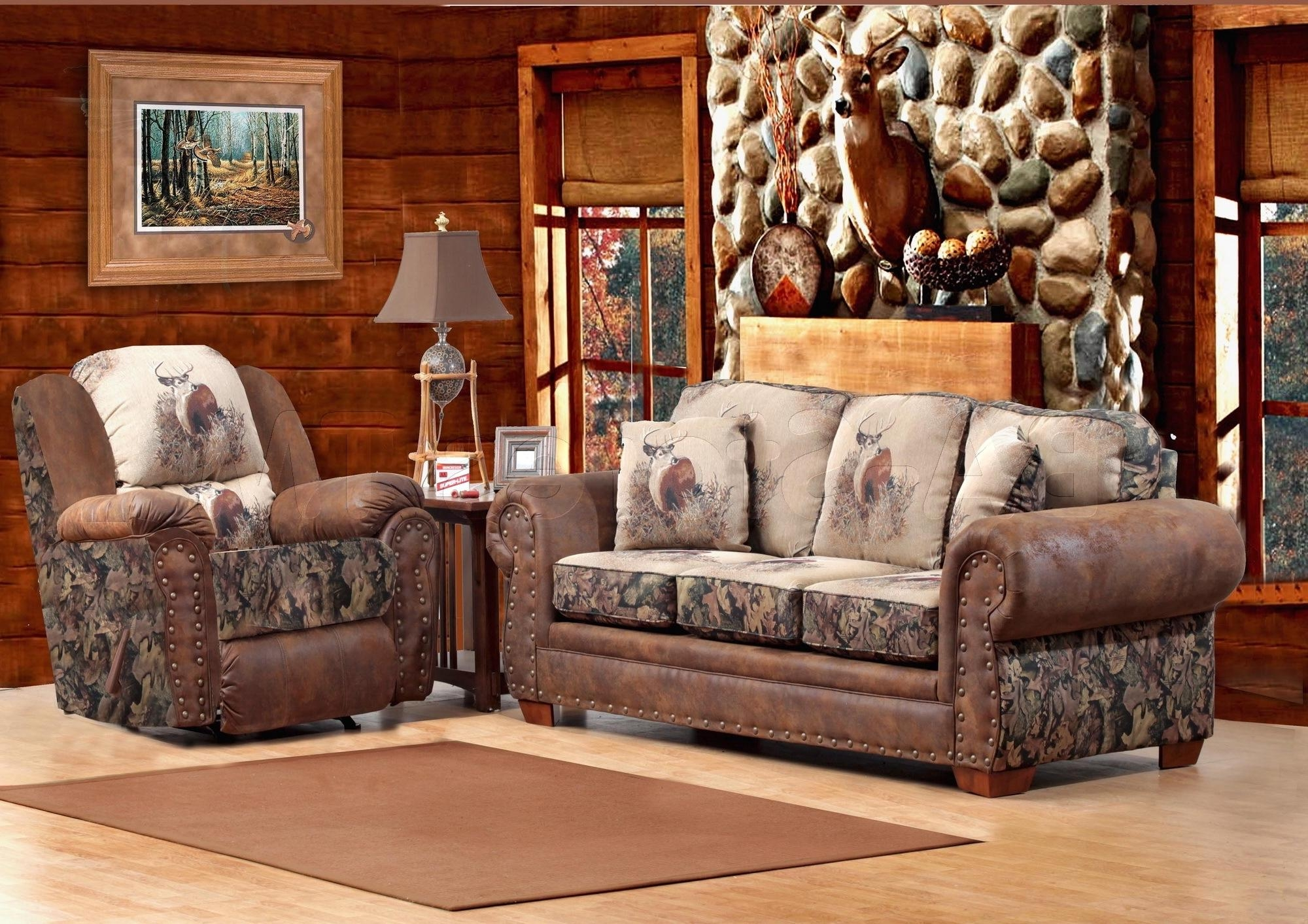 Camo Living Room Ideas Set From Aarons Nadine Sofa Sachi Camo New Pertaining To Camo Reclining Sofas (Image 3 of 20)