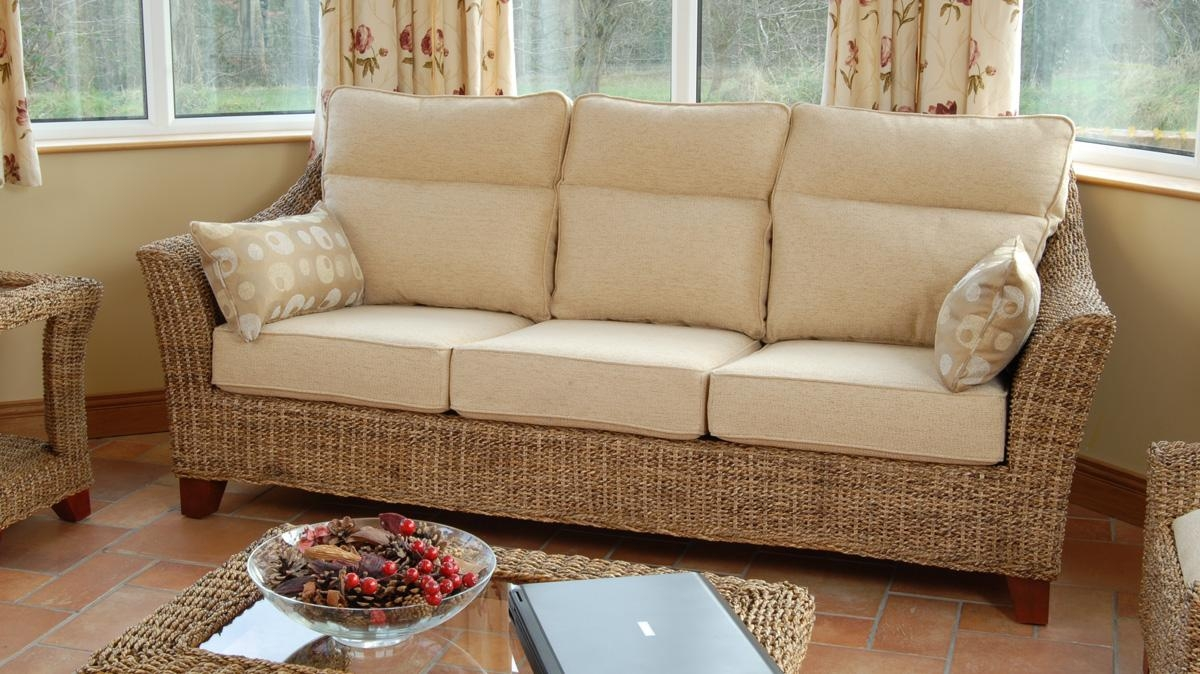 Cane 3 Seater Sofa For Conservatory | Cane Sofa Ireland | Within Cane Sofas (Image 3 of 20)