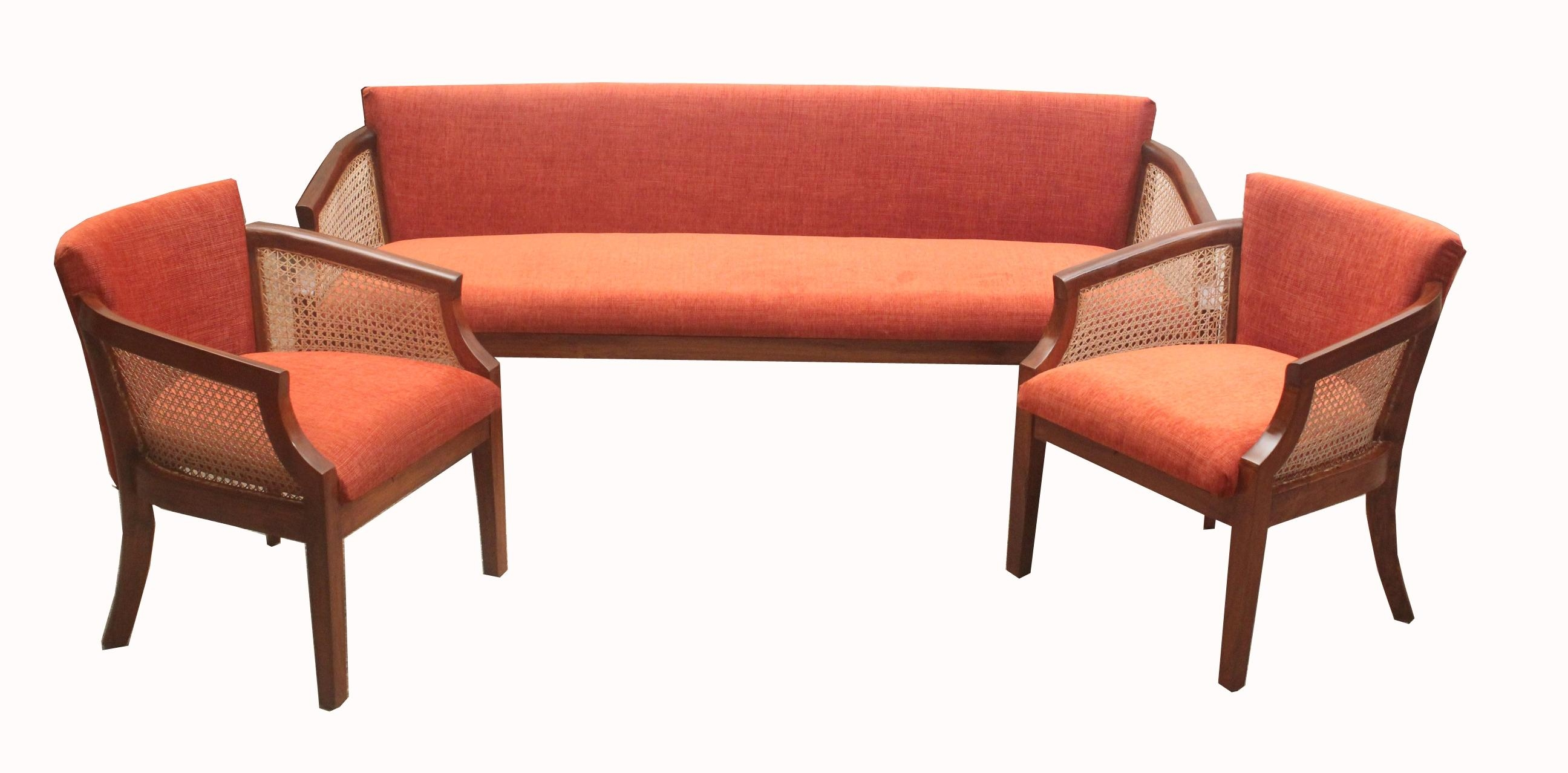 Cane Sofa Set With Inspiration Design 46956 | Kengire Throughout Ken Sofa Sets (Image 13 of 20)