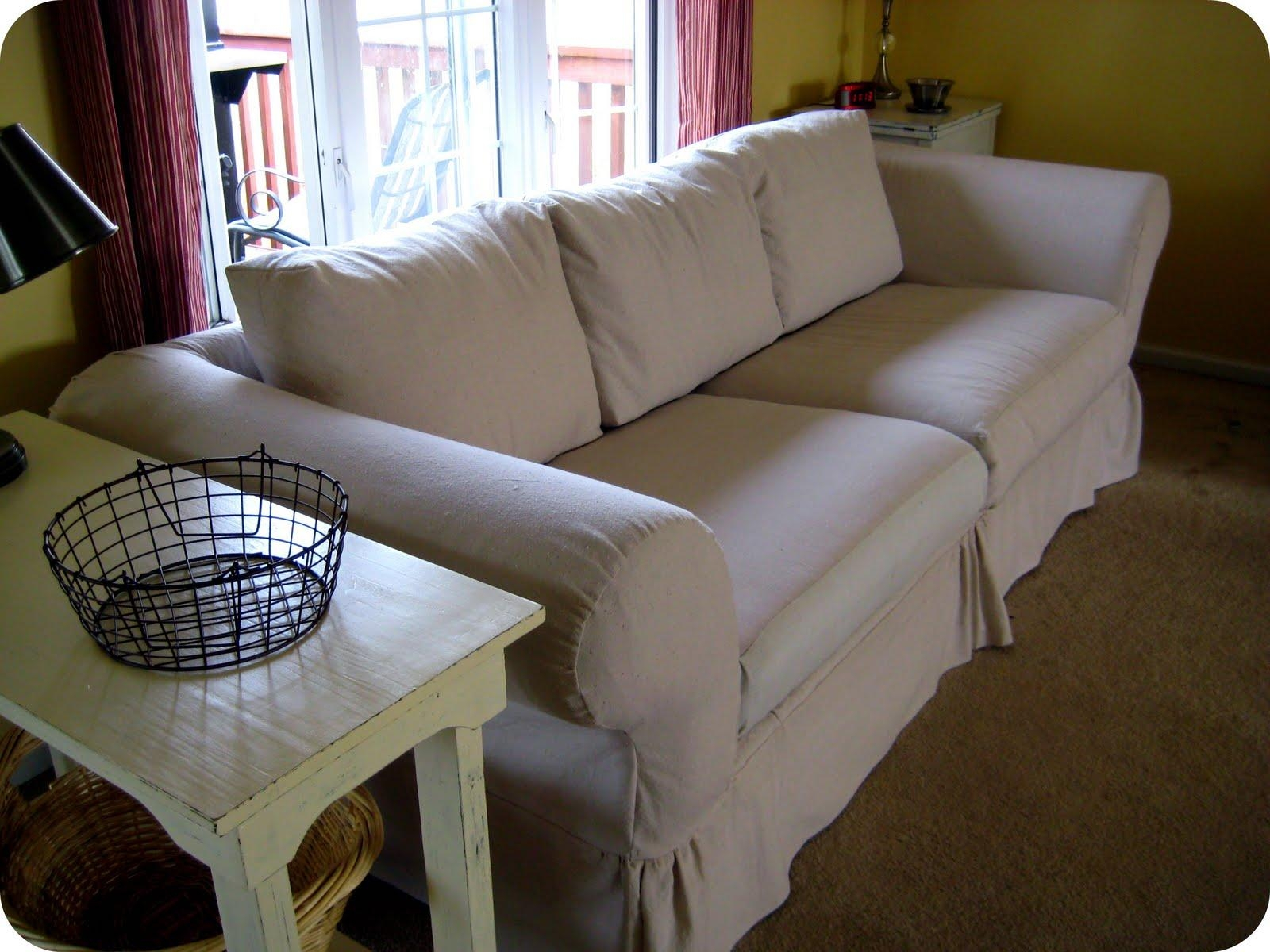 Canvas Sofa Slipcovers | Sofa Gallery | Kengire Within Canvas Slipcover Sofas (Image 4 of 20)