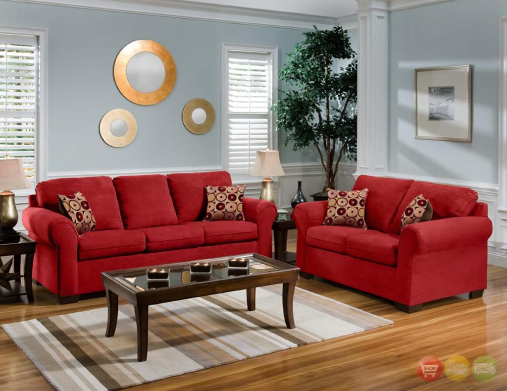 Captivating Red Living Room Furniture For Home – Complete Living Intended For Cheap Red Sofas (Image 1 of 20)